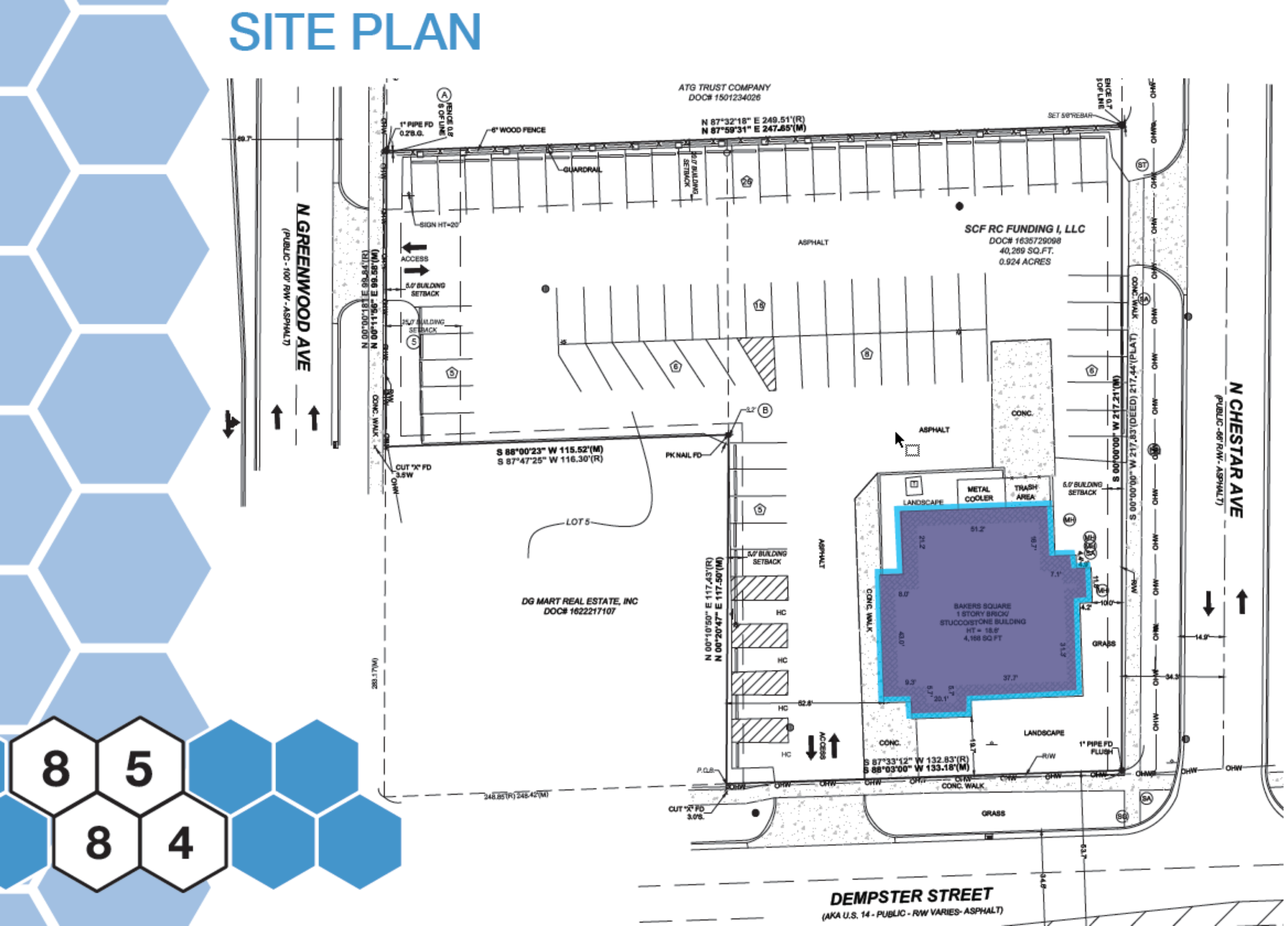 8584 West Dempster: site plan