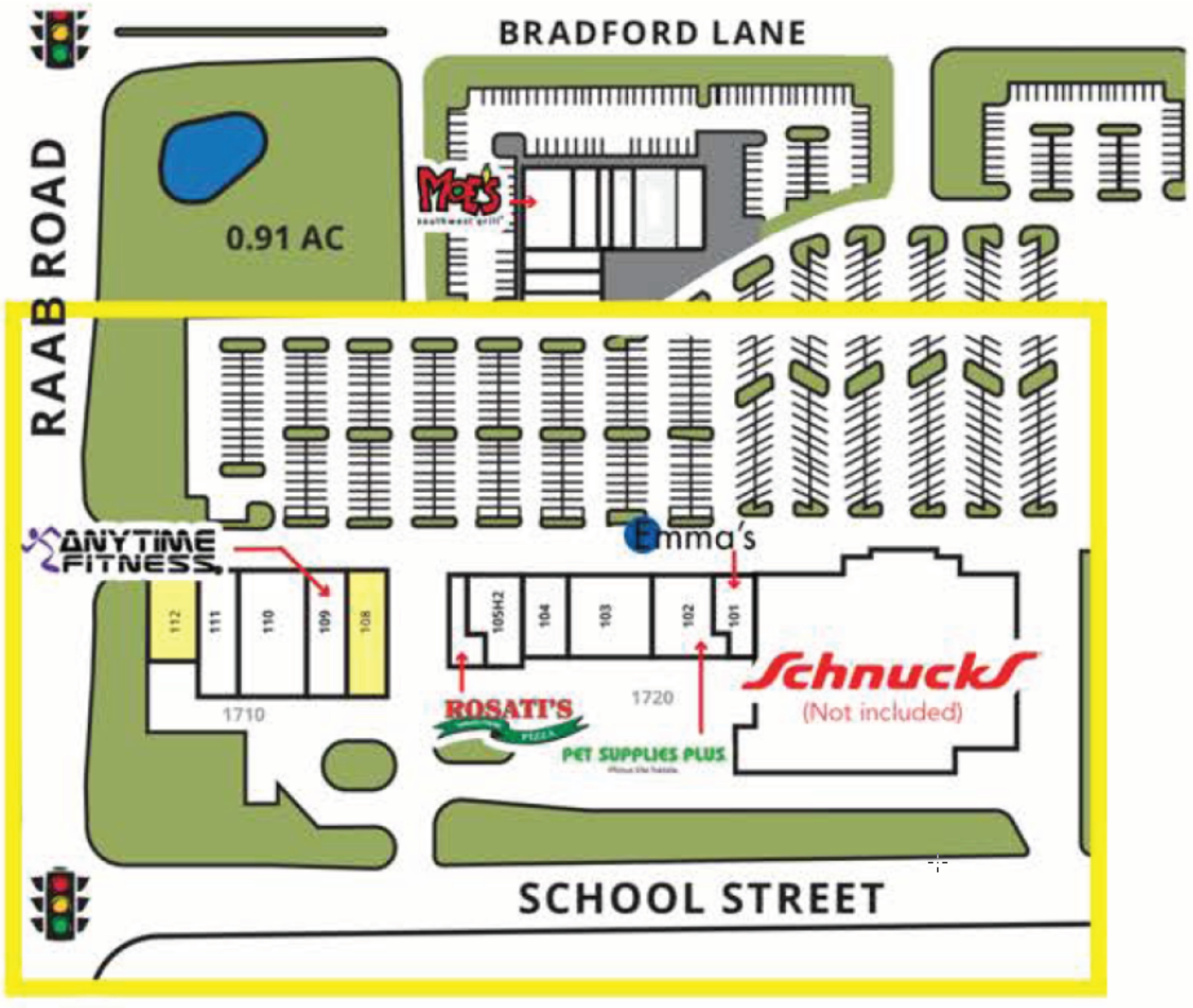 Constitution Trail Centre: site plan