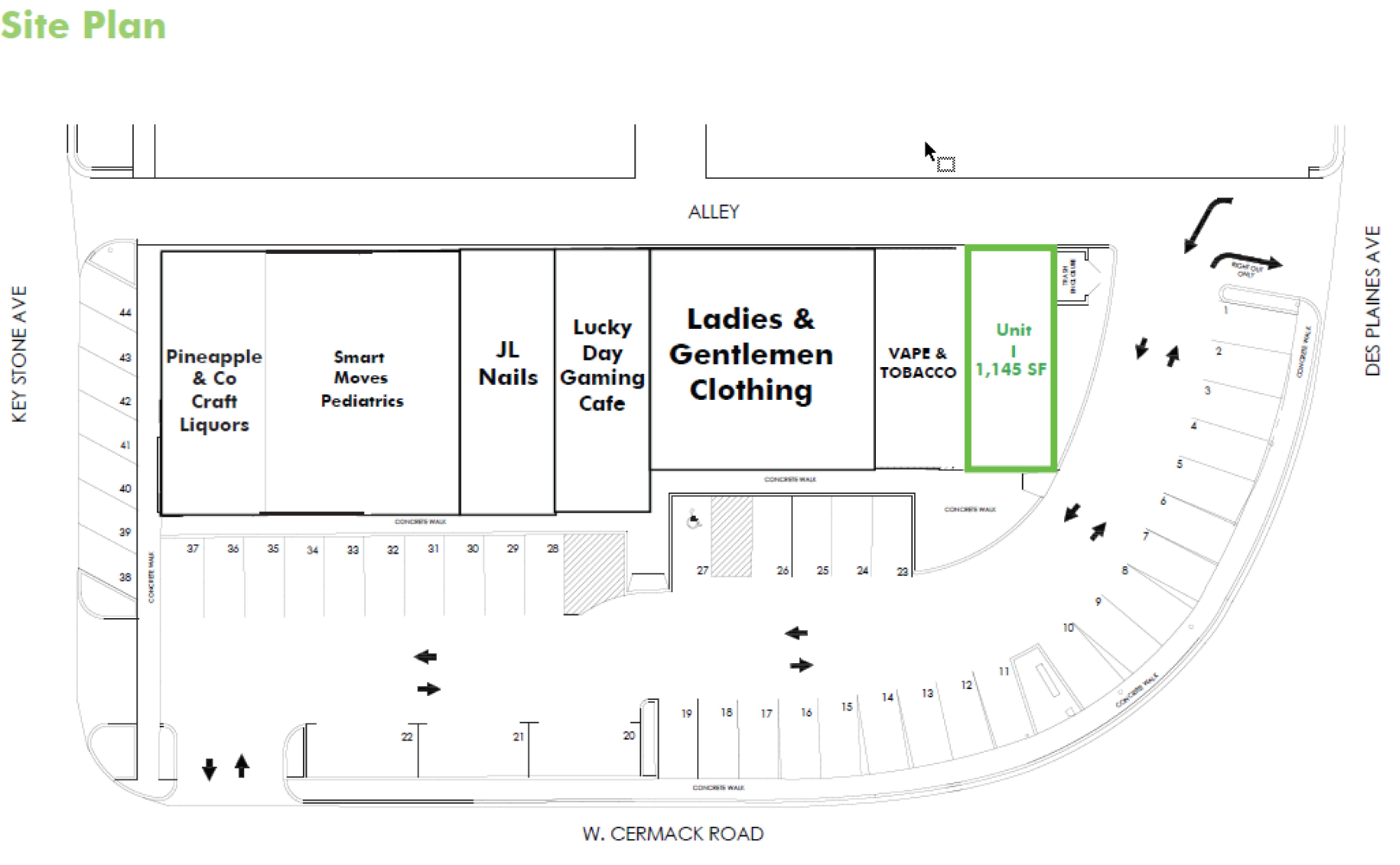 North Riverside Center: site plan