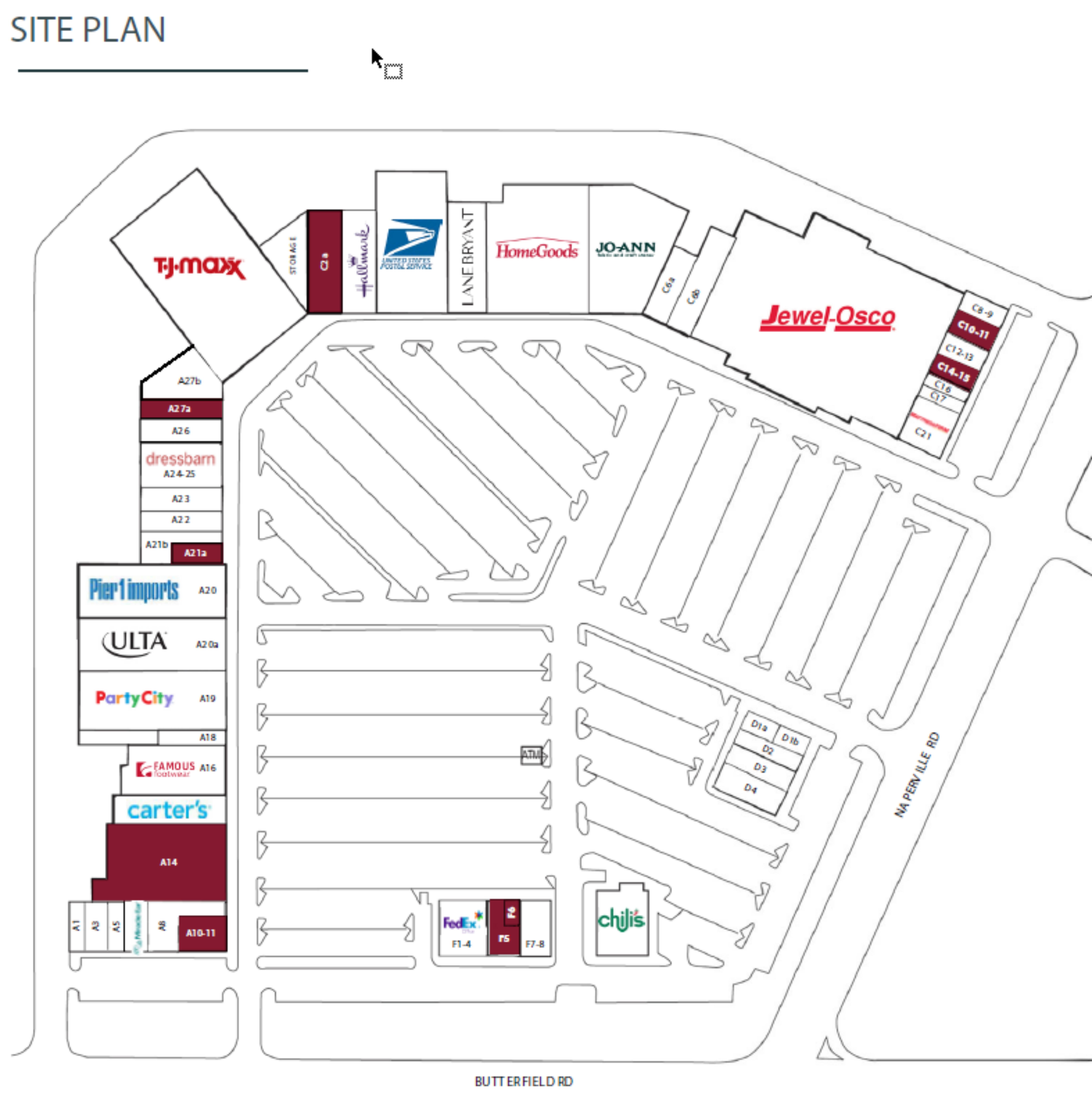 Danada Square West: site plan