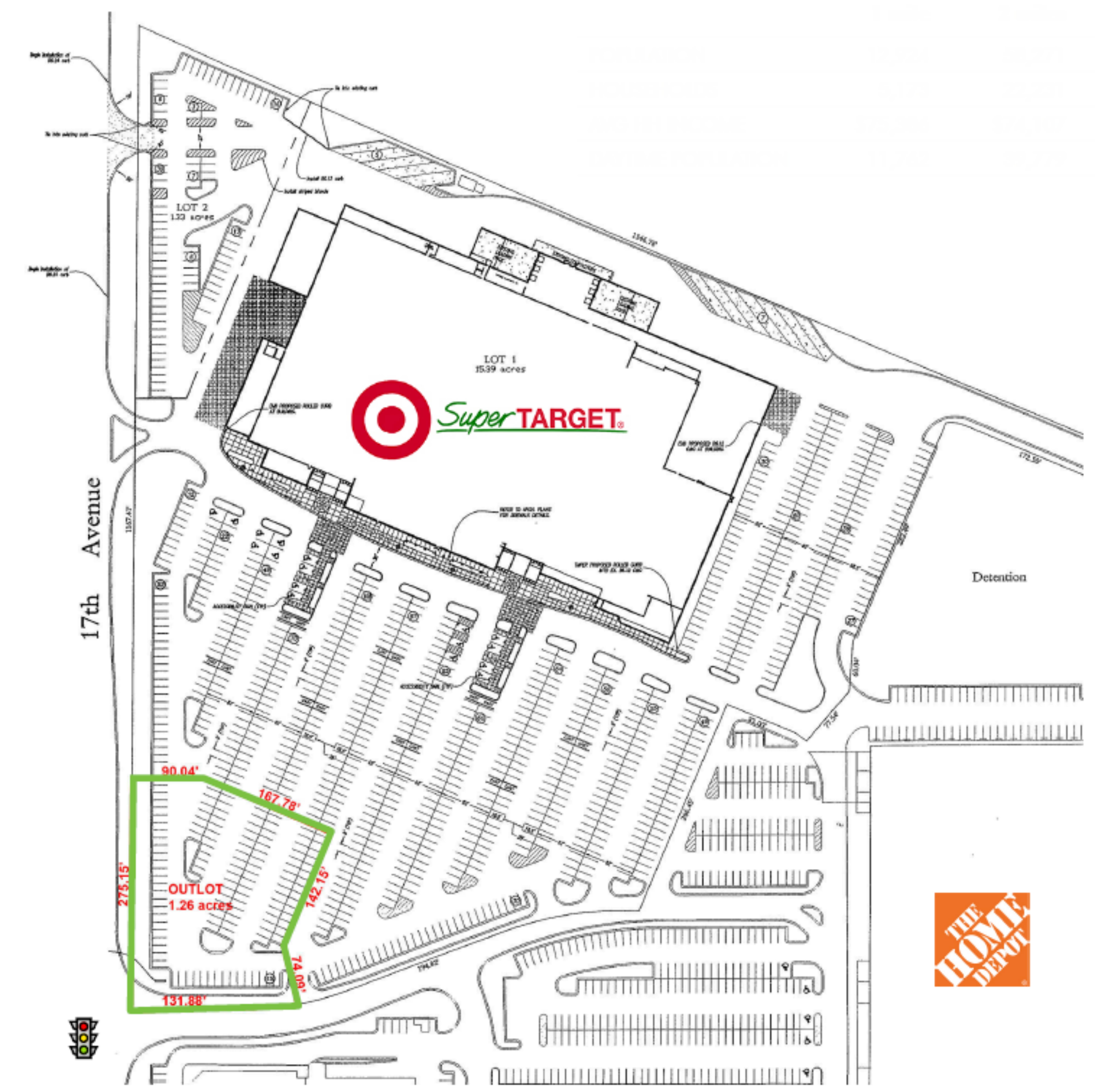 Target Outlot: site plan