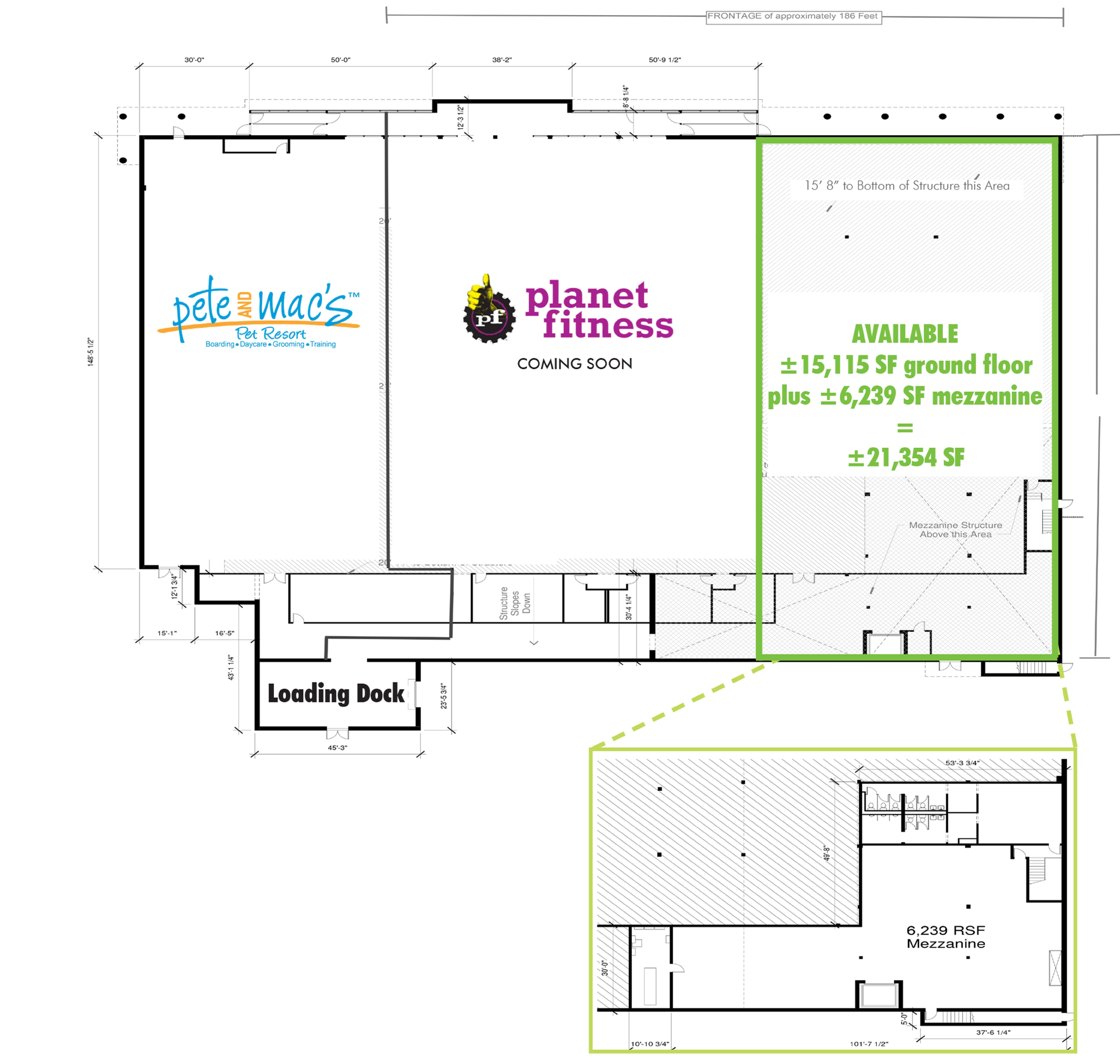 Palatine Plaza: site plan