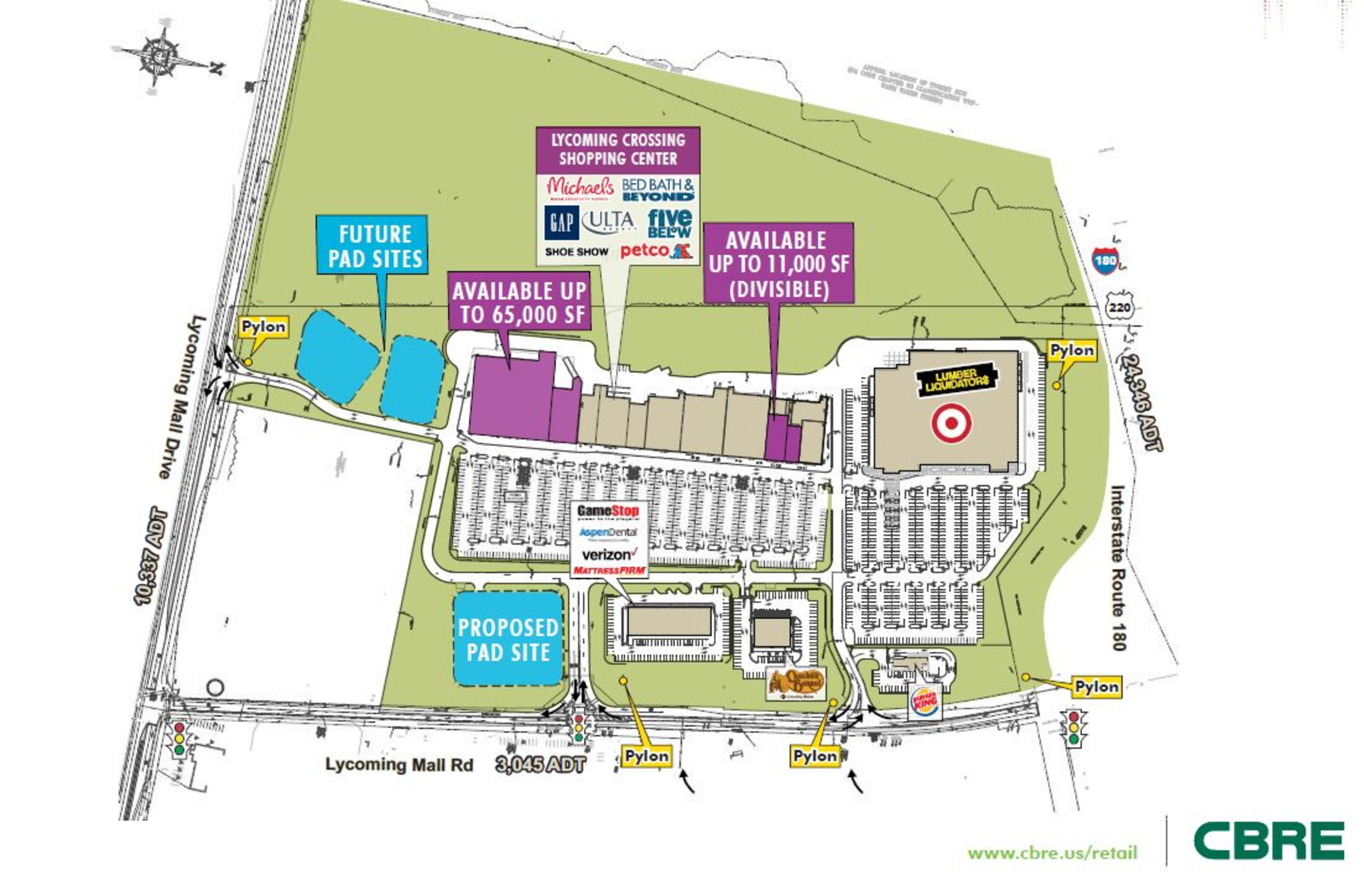 Lycoming Crossing Shopping Center: site plan