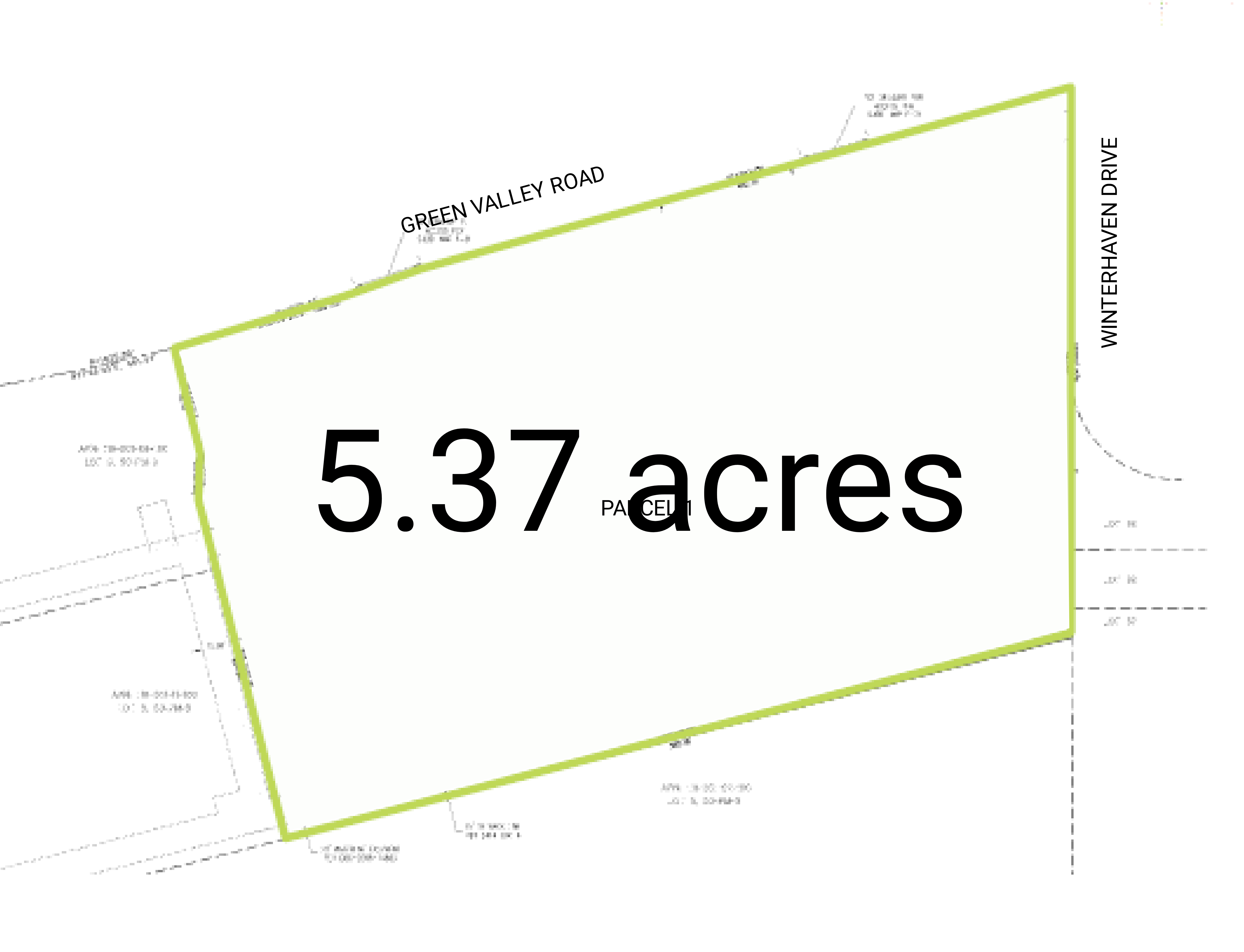 Cameron Park Land: site plan
