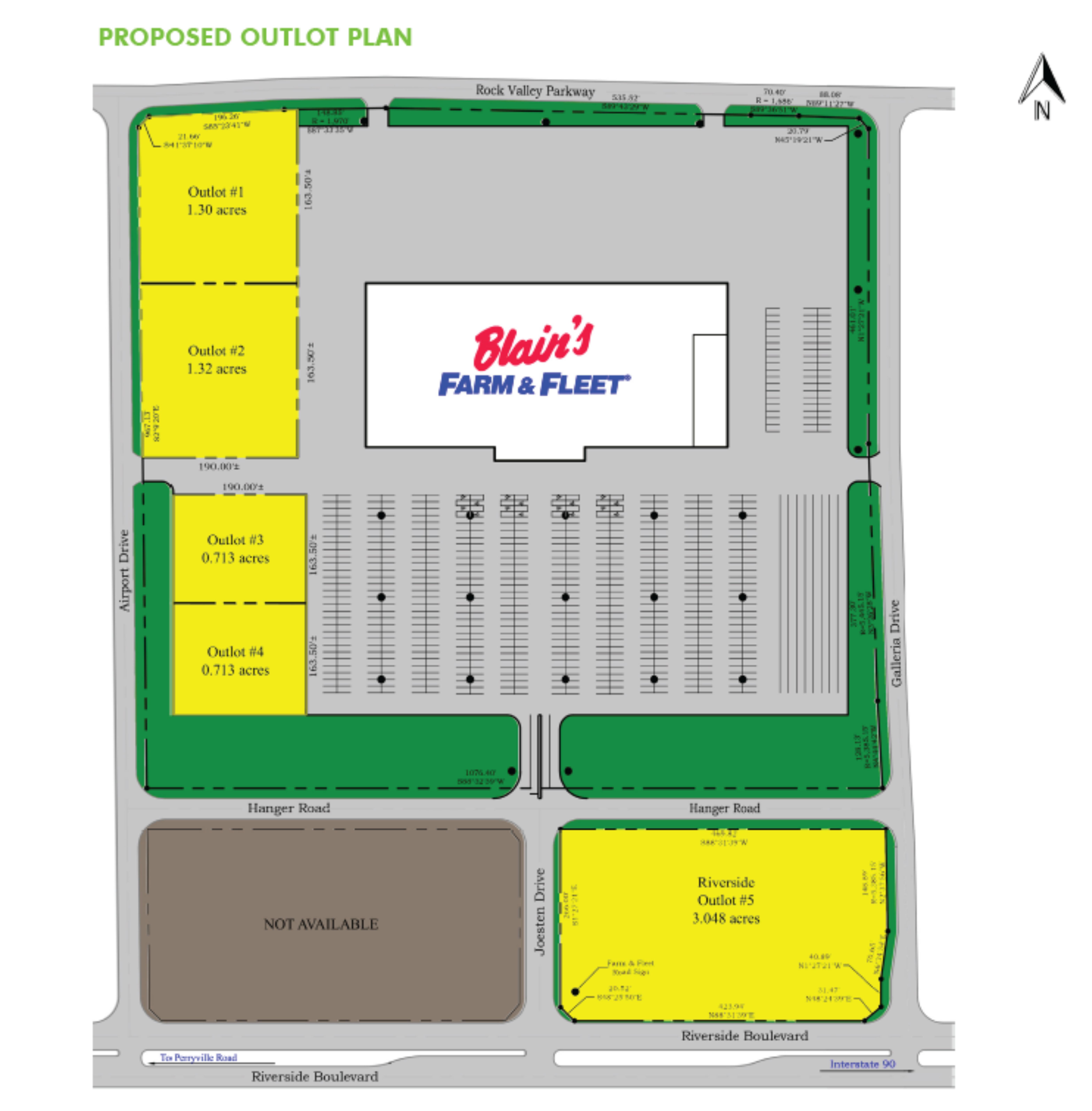 Blain's Farm & Fleet Pad Sites: site plan
