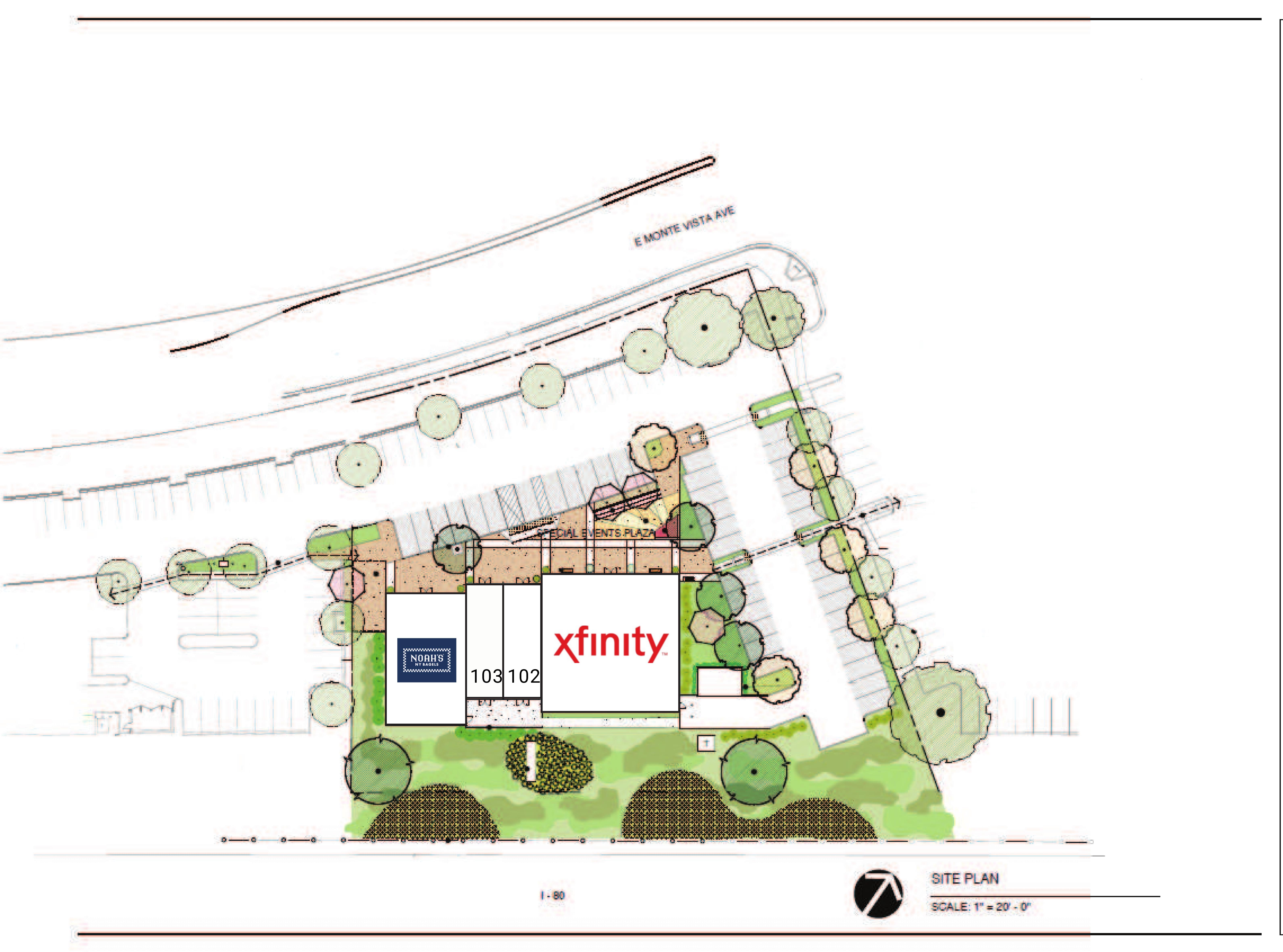 Nut Tree 1670 E Monte Vista: site plan