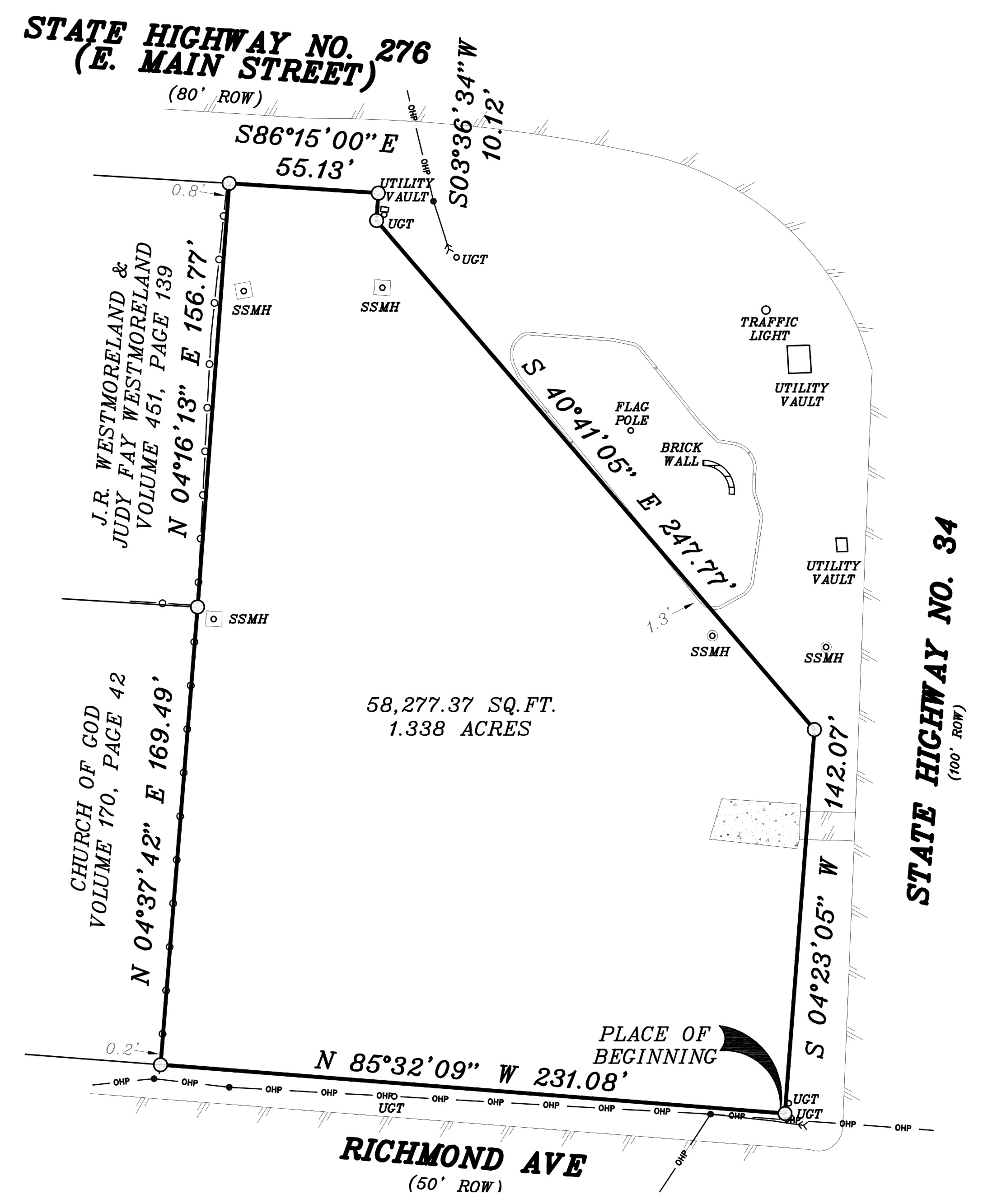 SWC SH-34 & E Main St: site plan