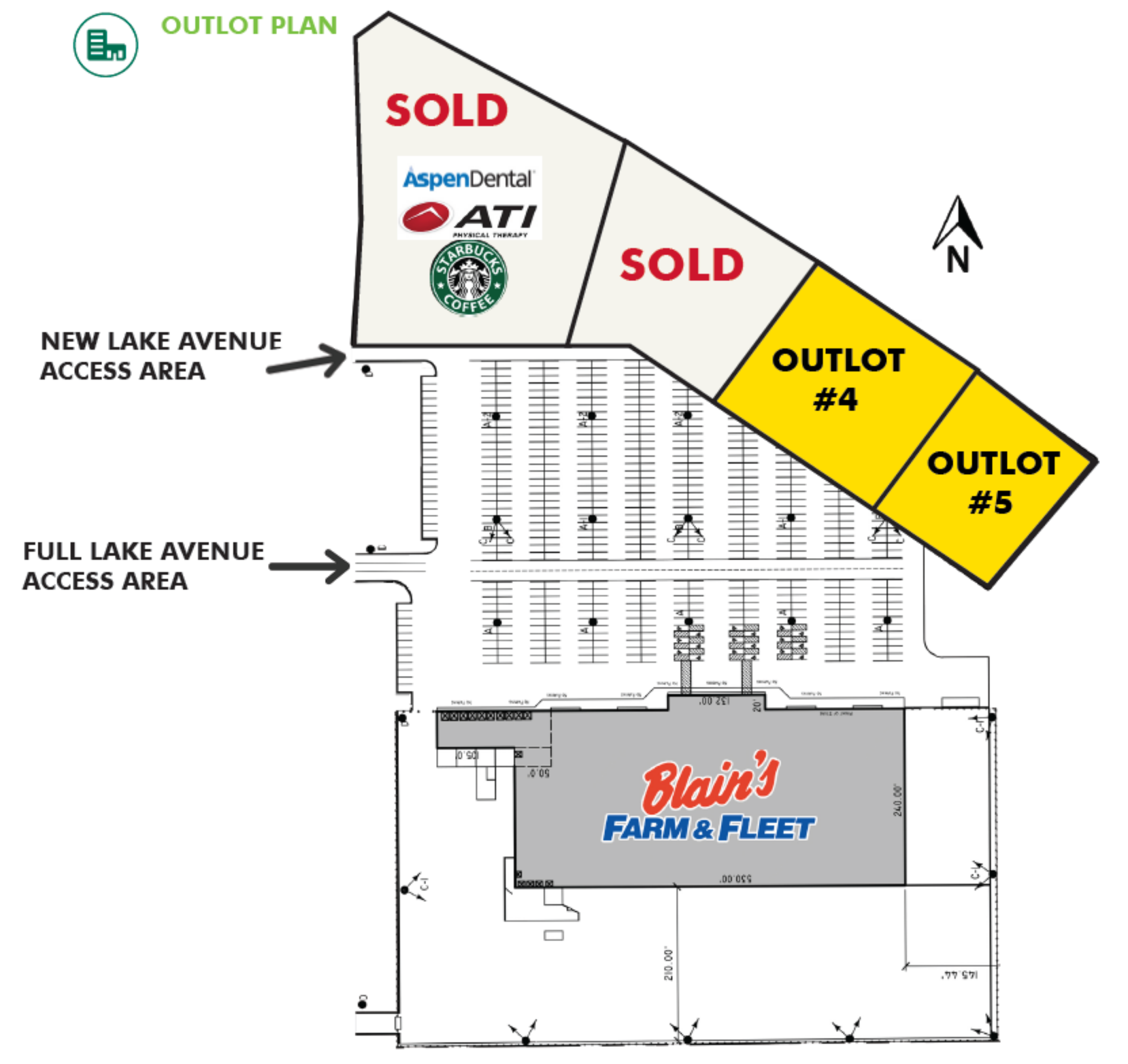 Blain's Farm & Fleet Pad Sites: site plan