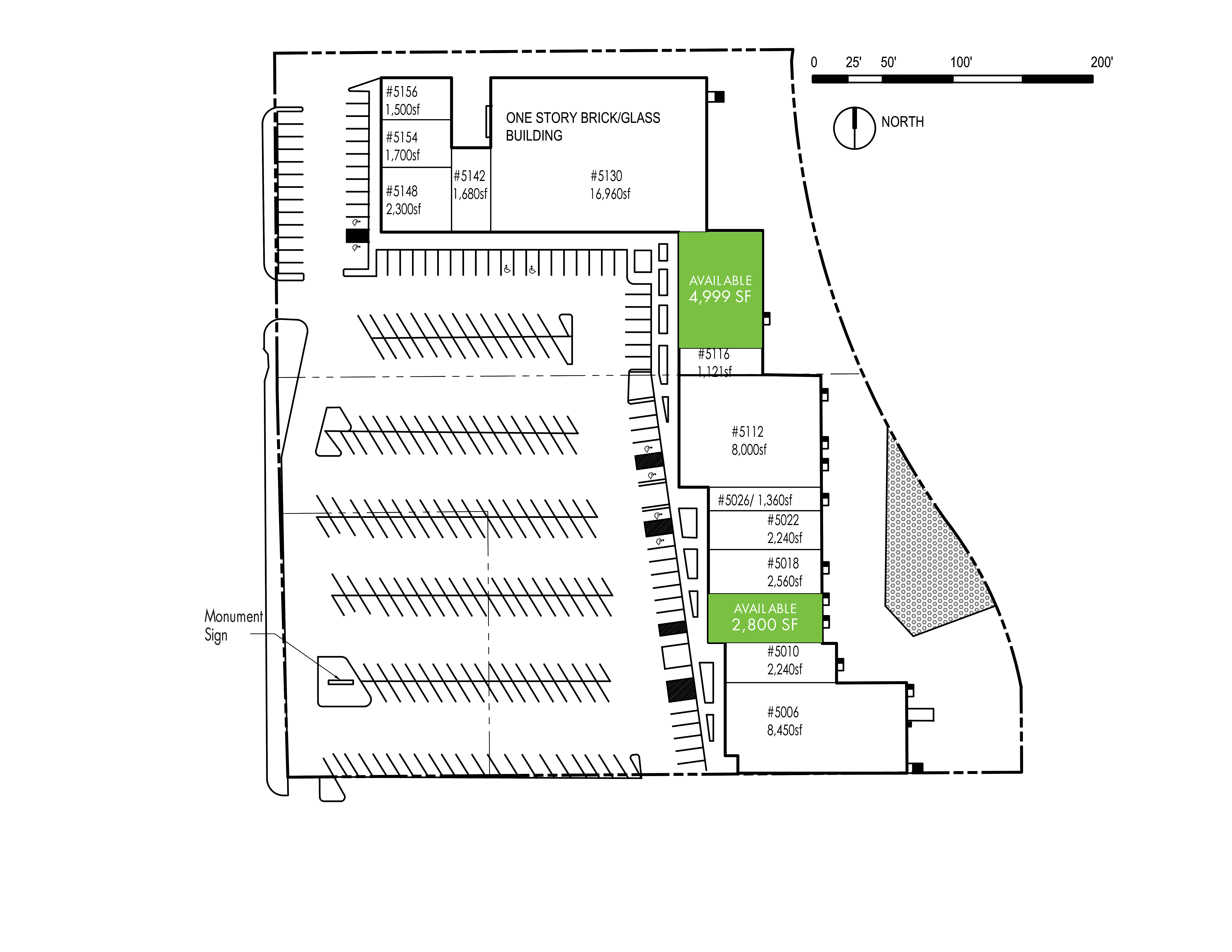 Duck Creek Shopping Center: site plan