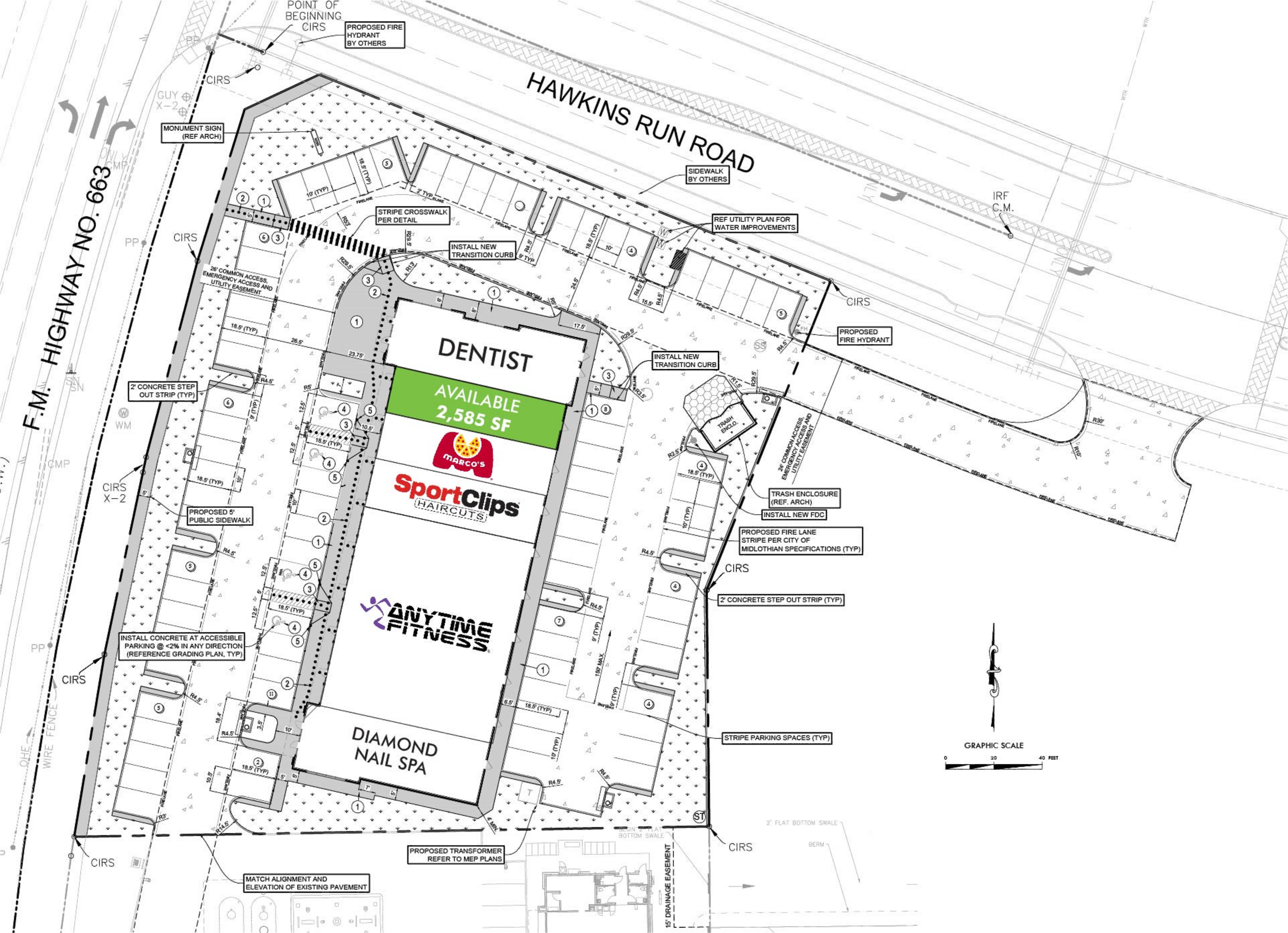 Midlothian Retail: site plan