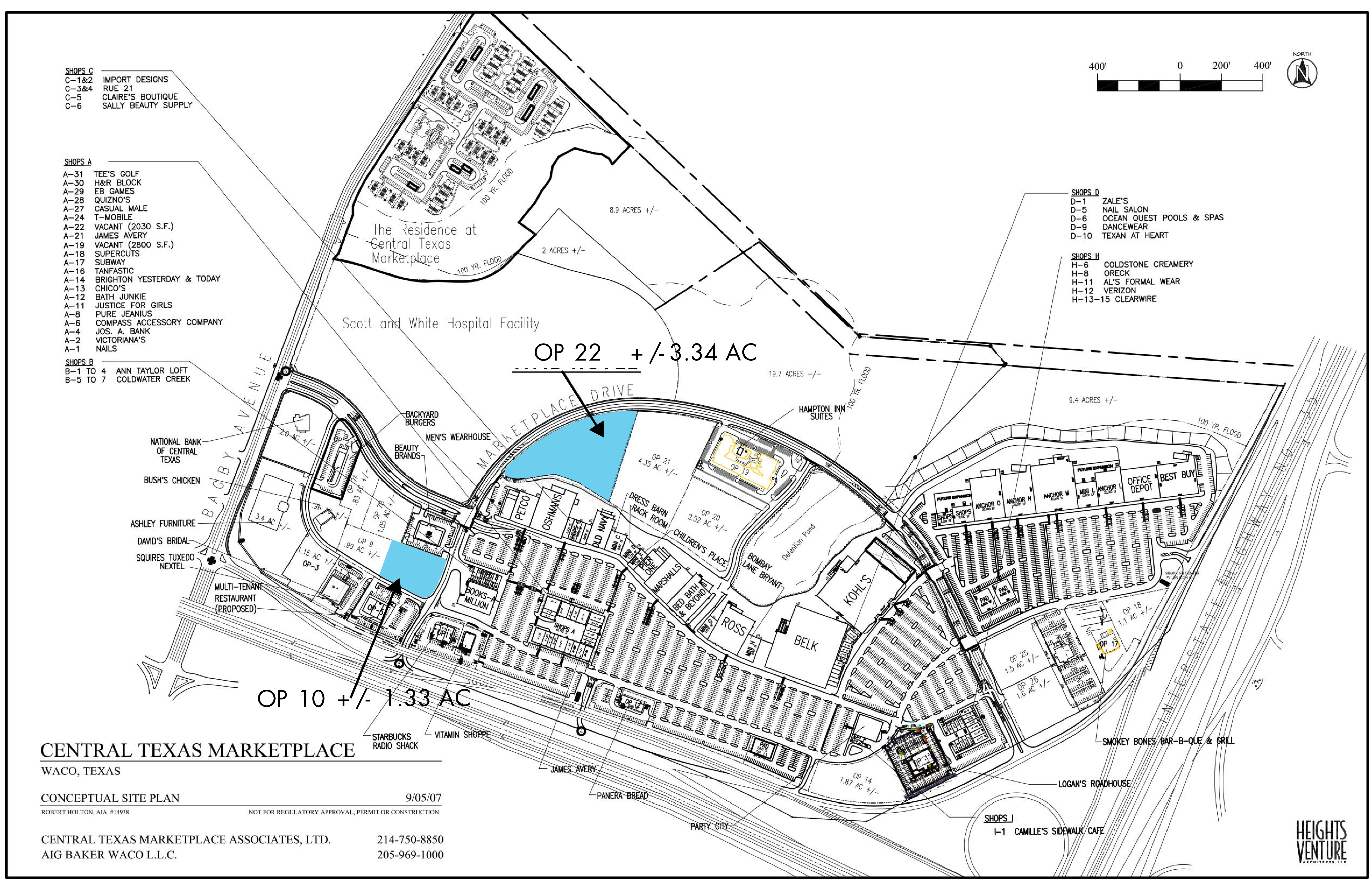 Central Texas Marketplace – Pad Sites For Sale: site plan