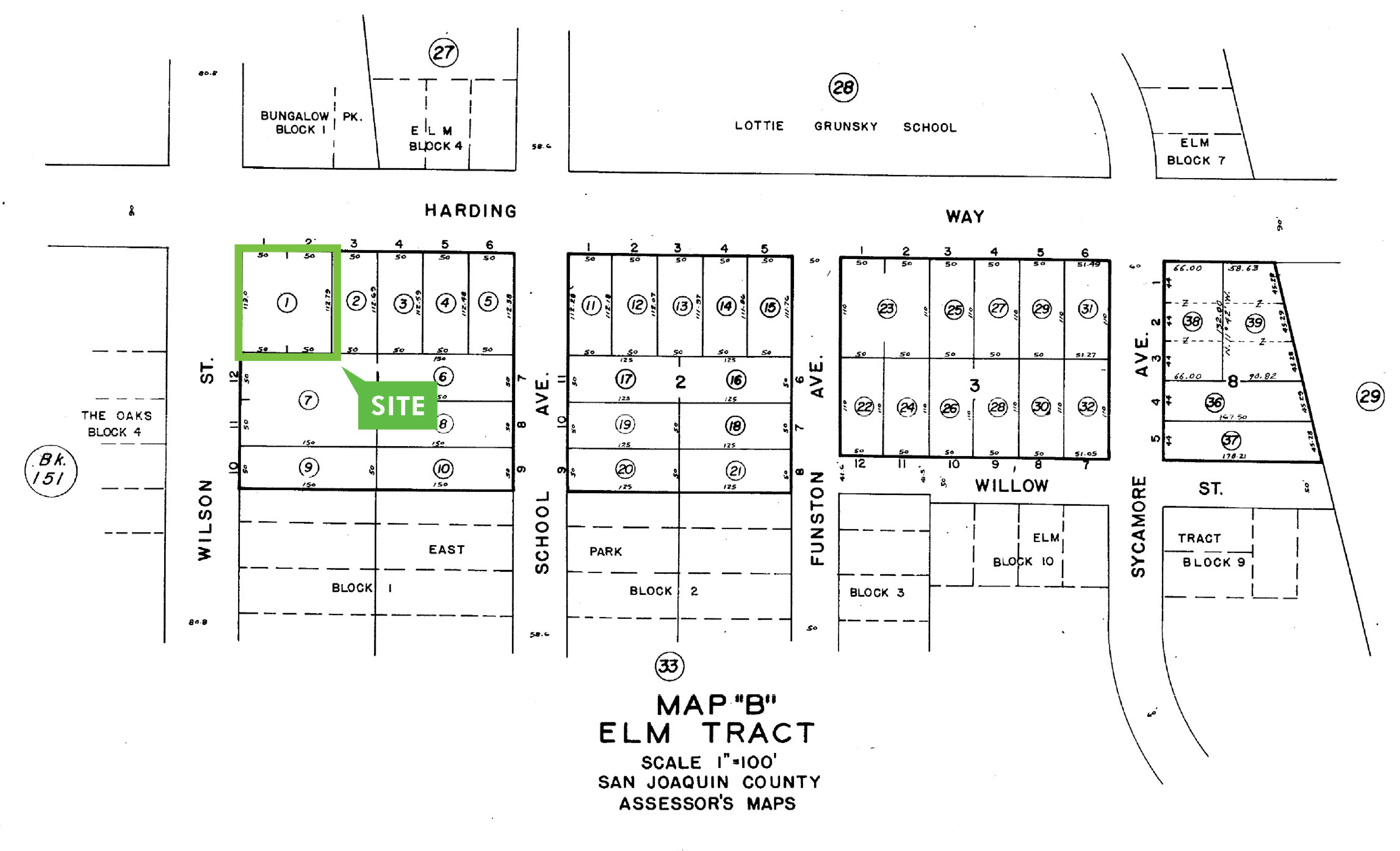 Commercial Lot - Stockton: site plan