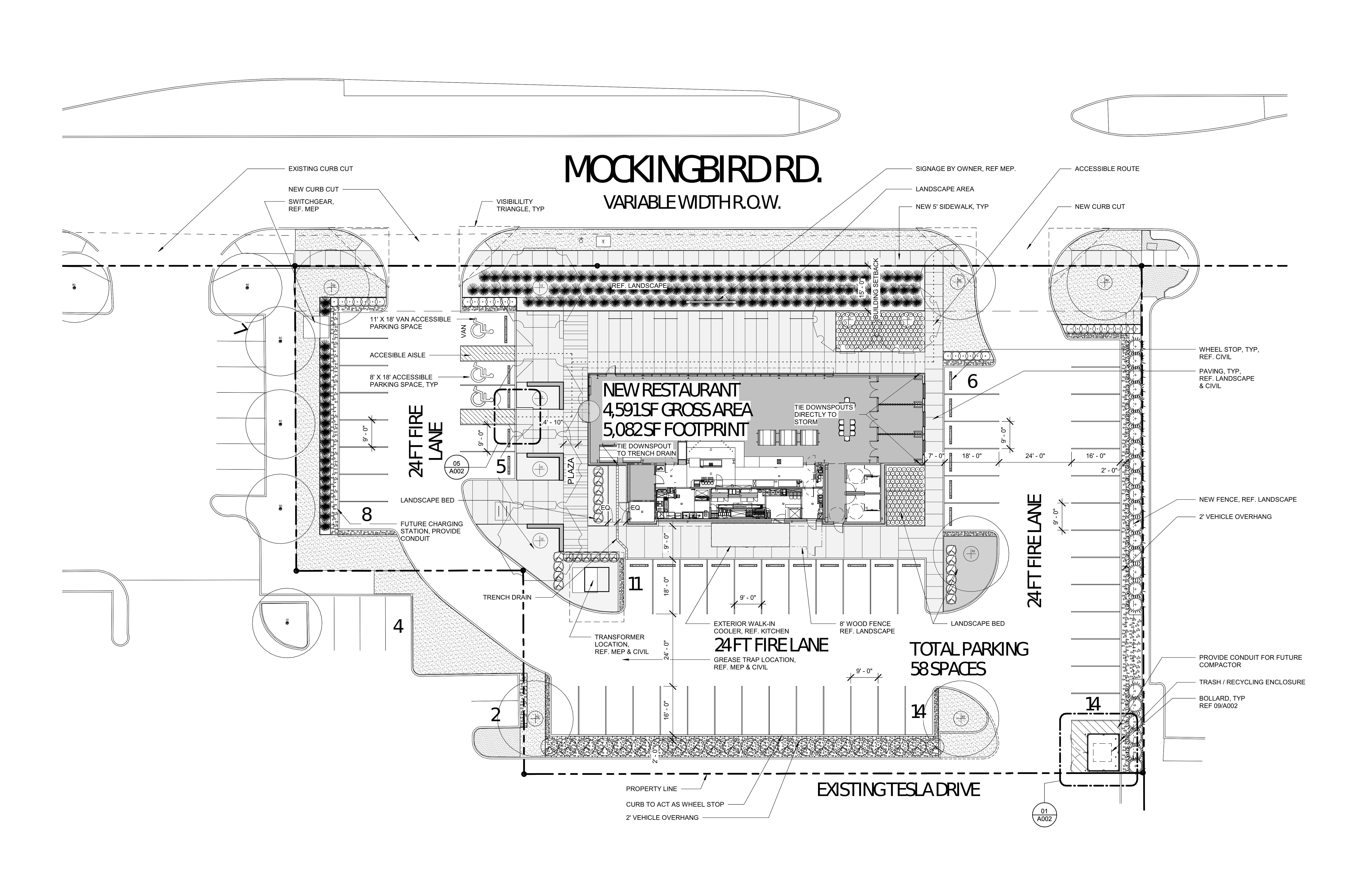 3130 W Mockingbird Ln: site plan