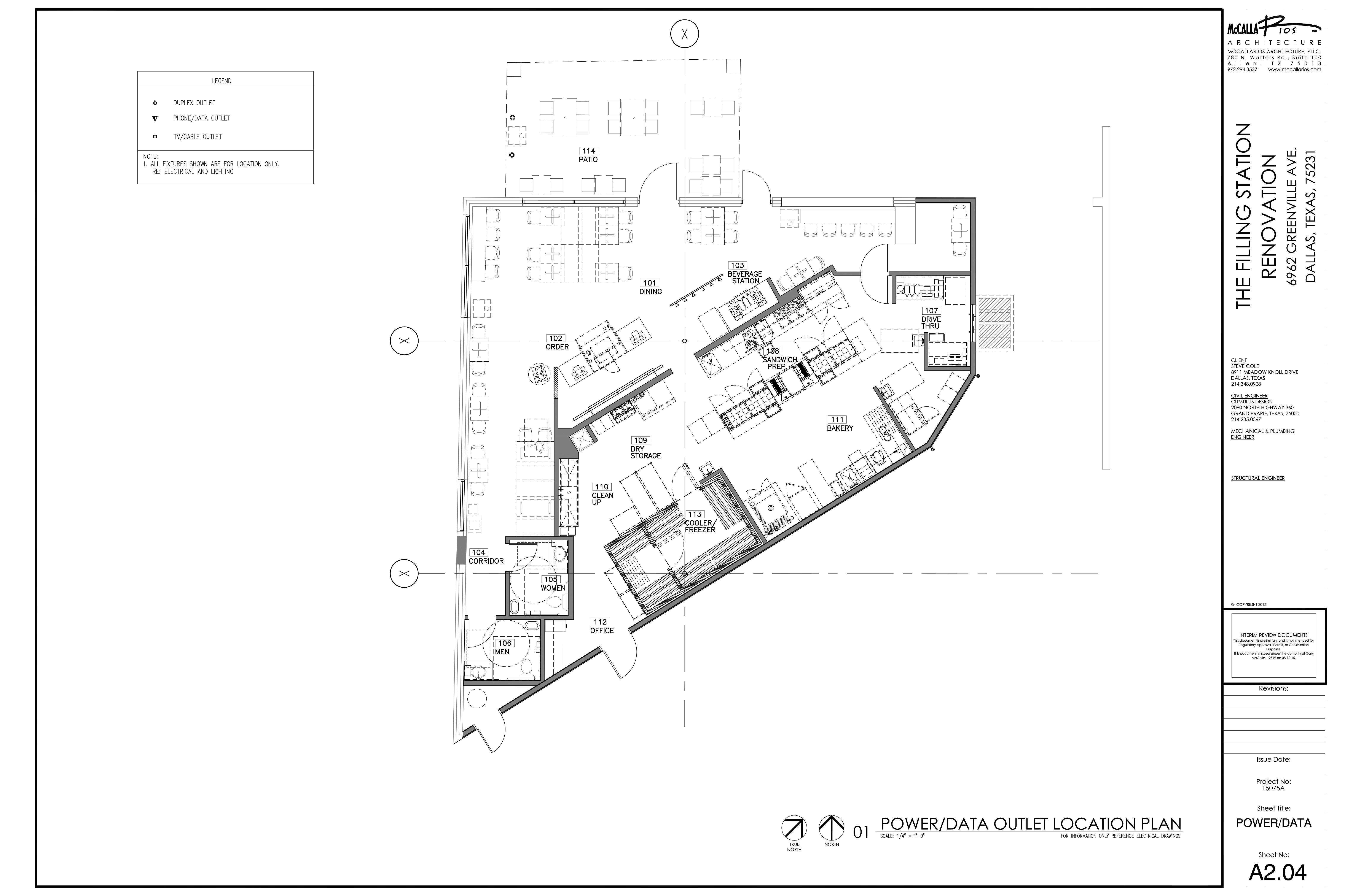 6862 Greenville Ave - Schlotzsky's Deli: site plan