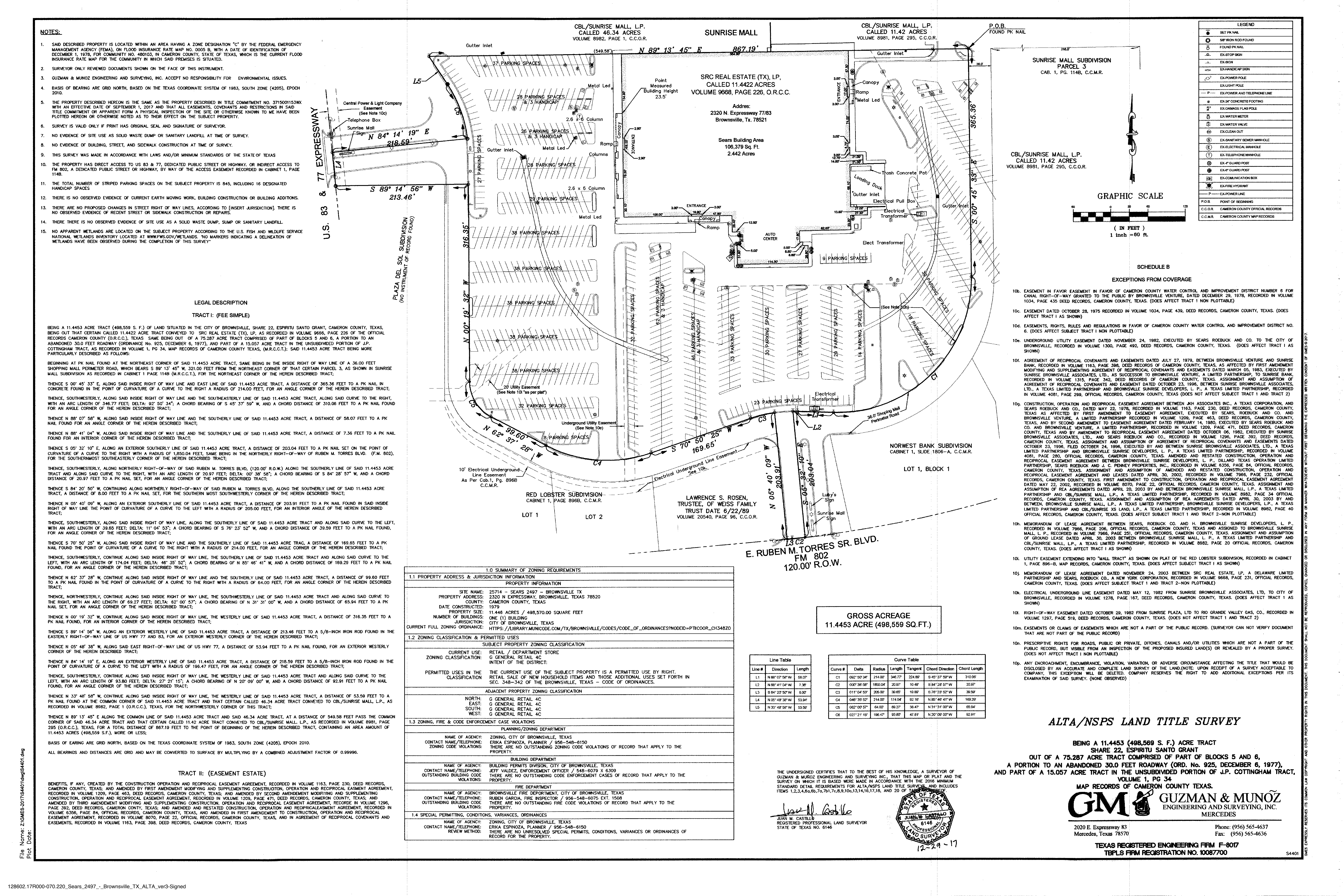 Former Sears - Brownsville: site plan