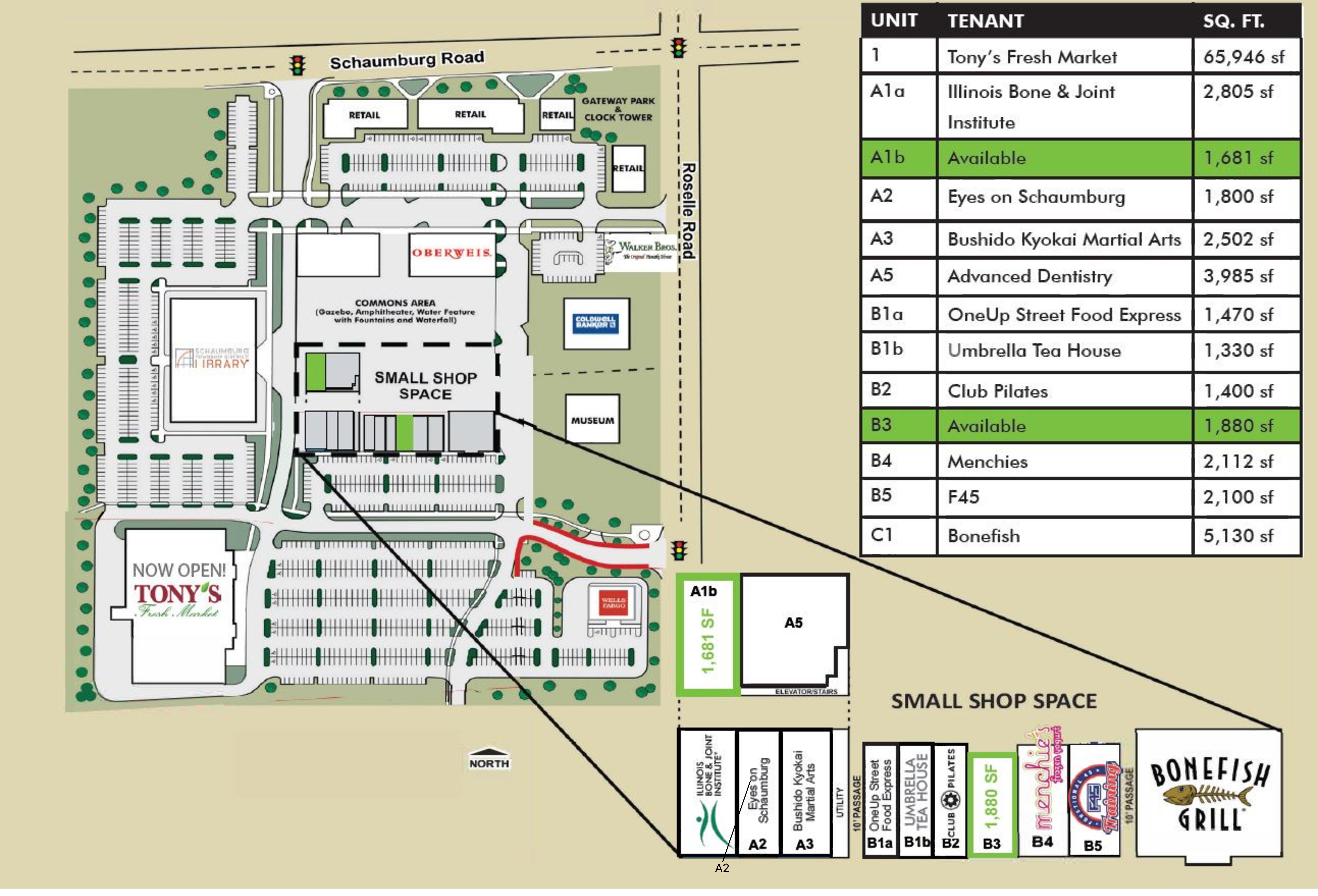 Town Square Schaumburg: site plan
