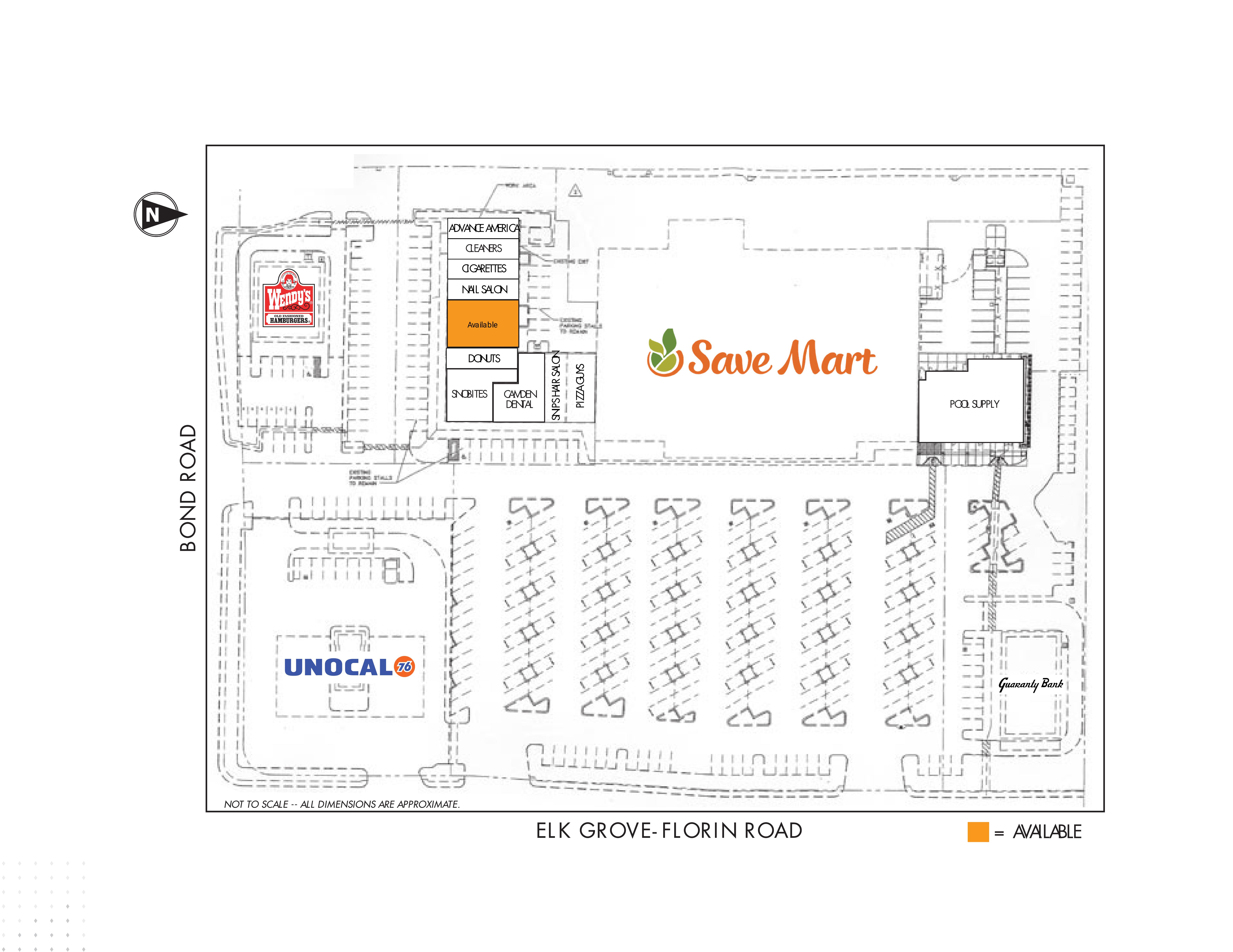Elk Grove Camden Park Shopping Center: site plan