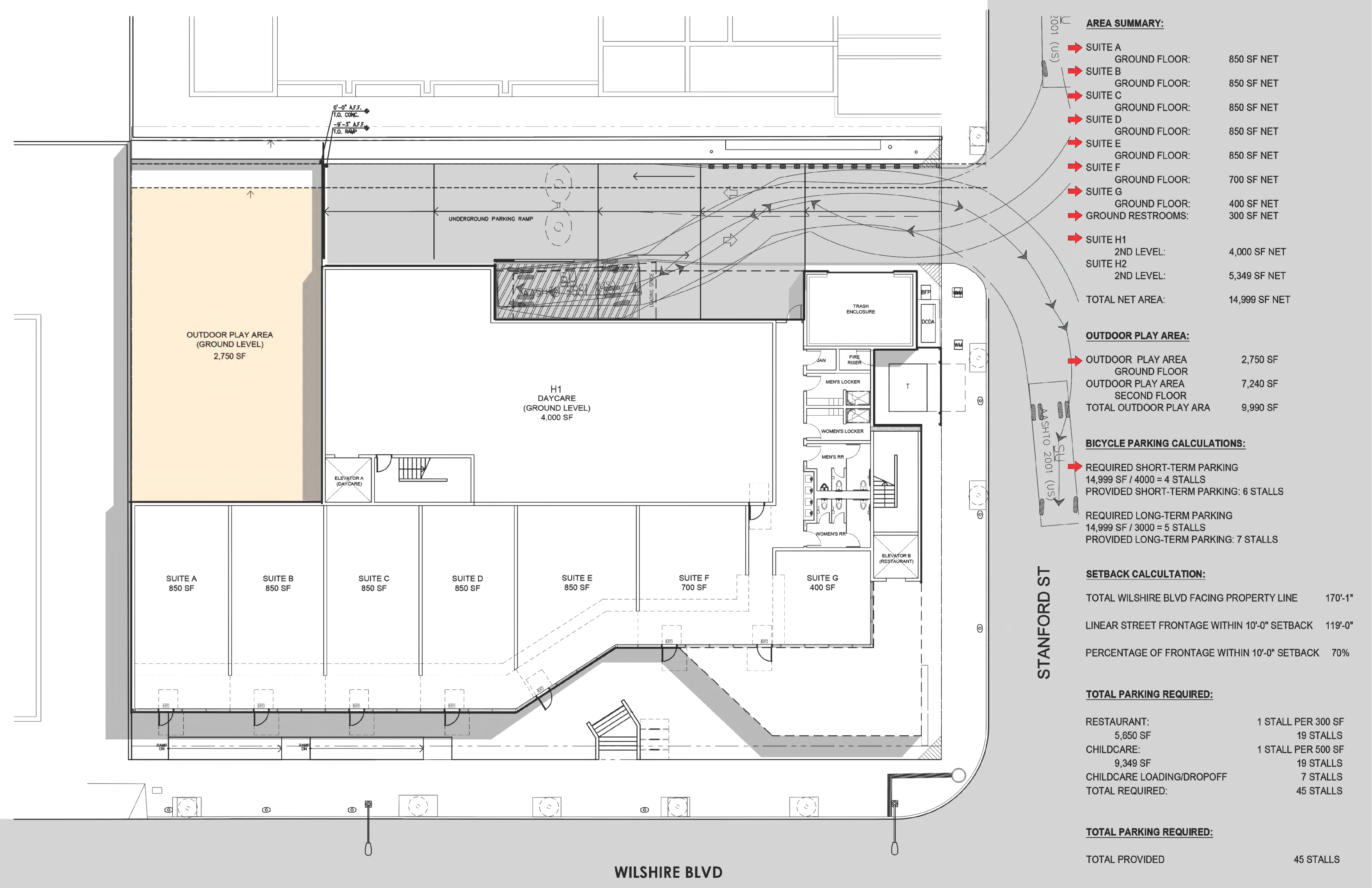 Santa Monica-2919 Wilshire Boulevard: site plan