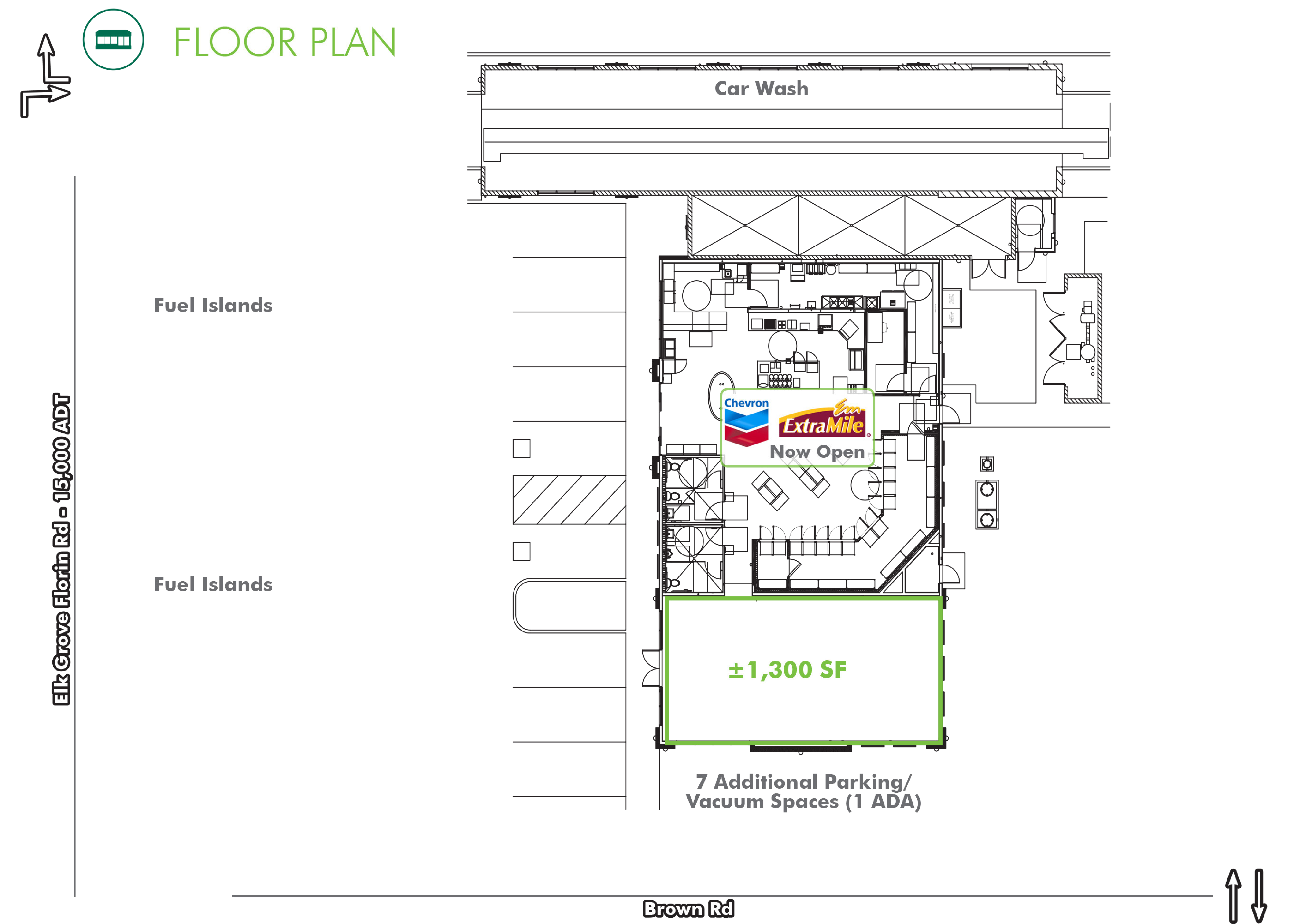 Restaurant/Shop Space - Elk Grove Florin: site plan