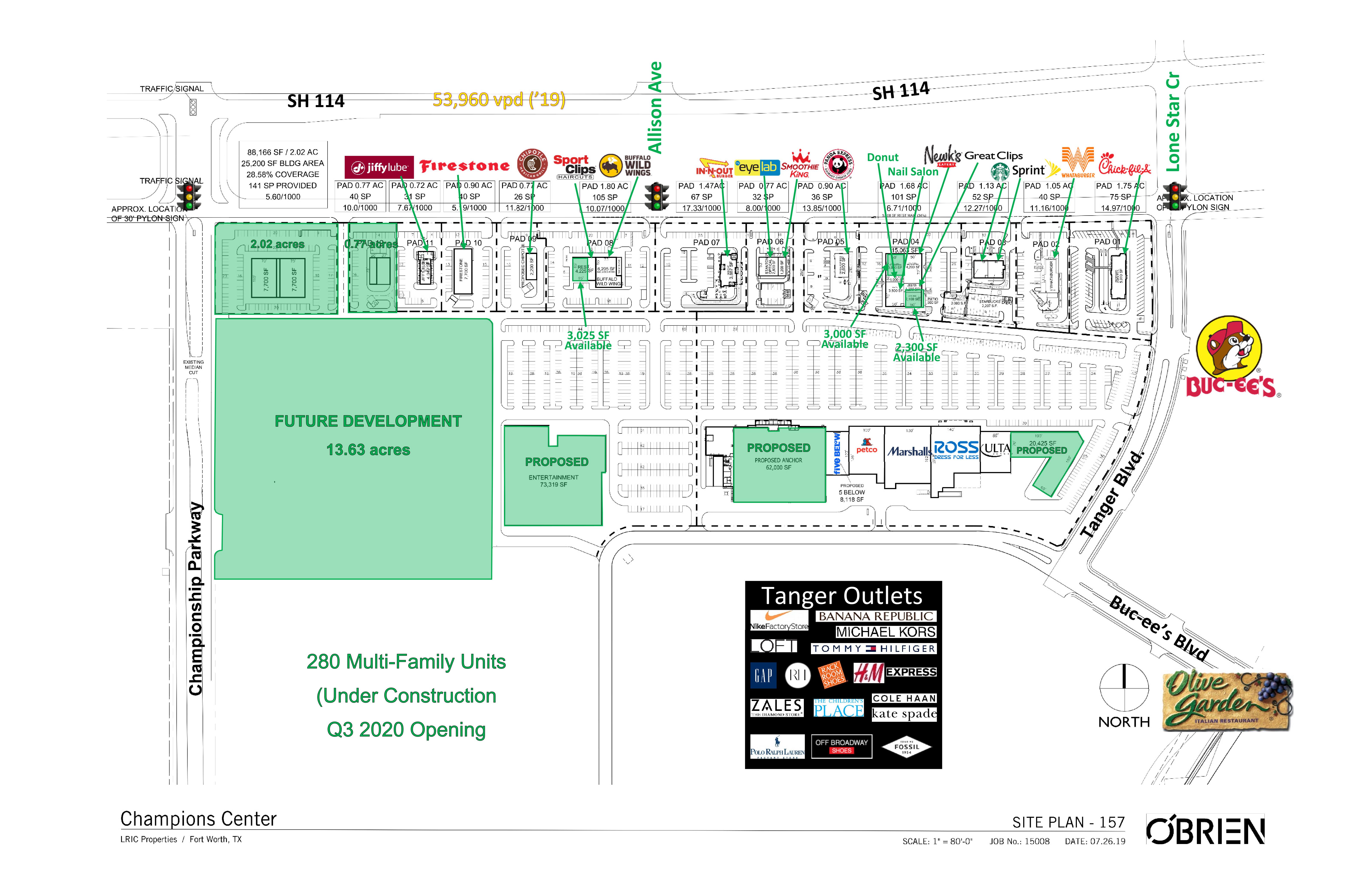 Champions Center: site plan