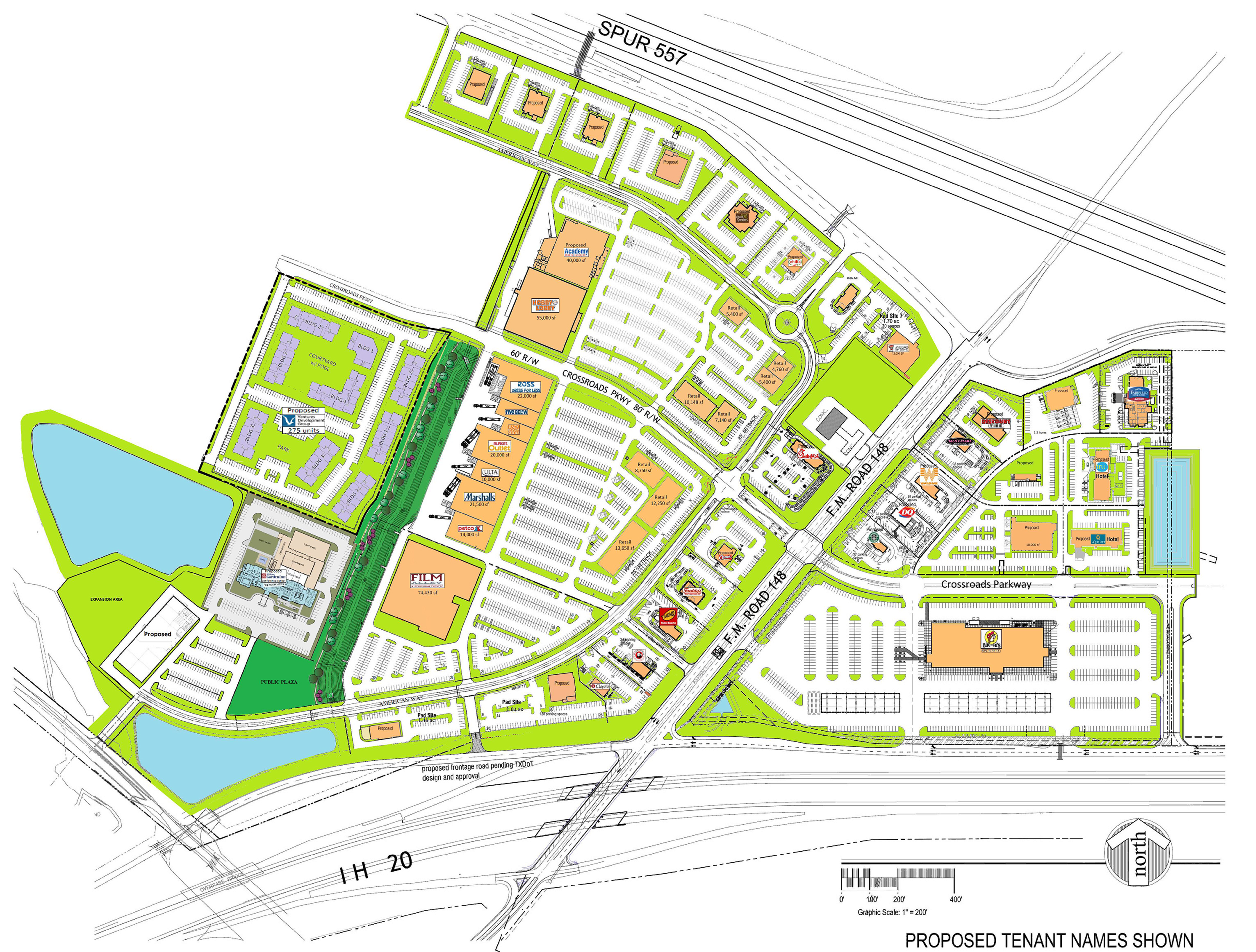 Crossroads at Terrell: site plan