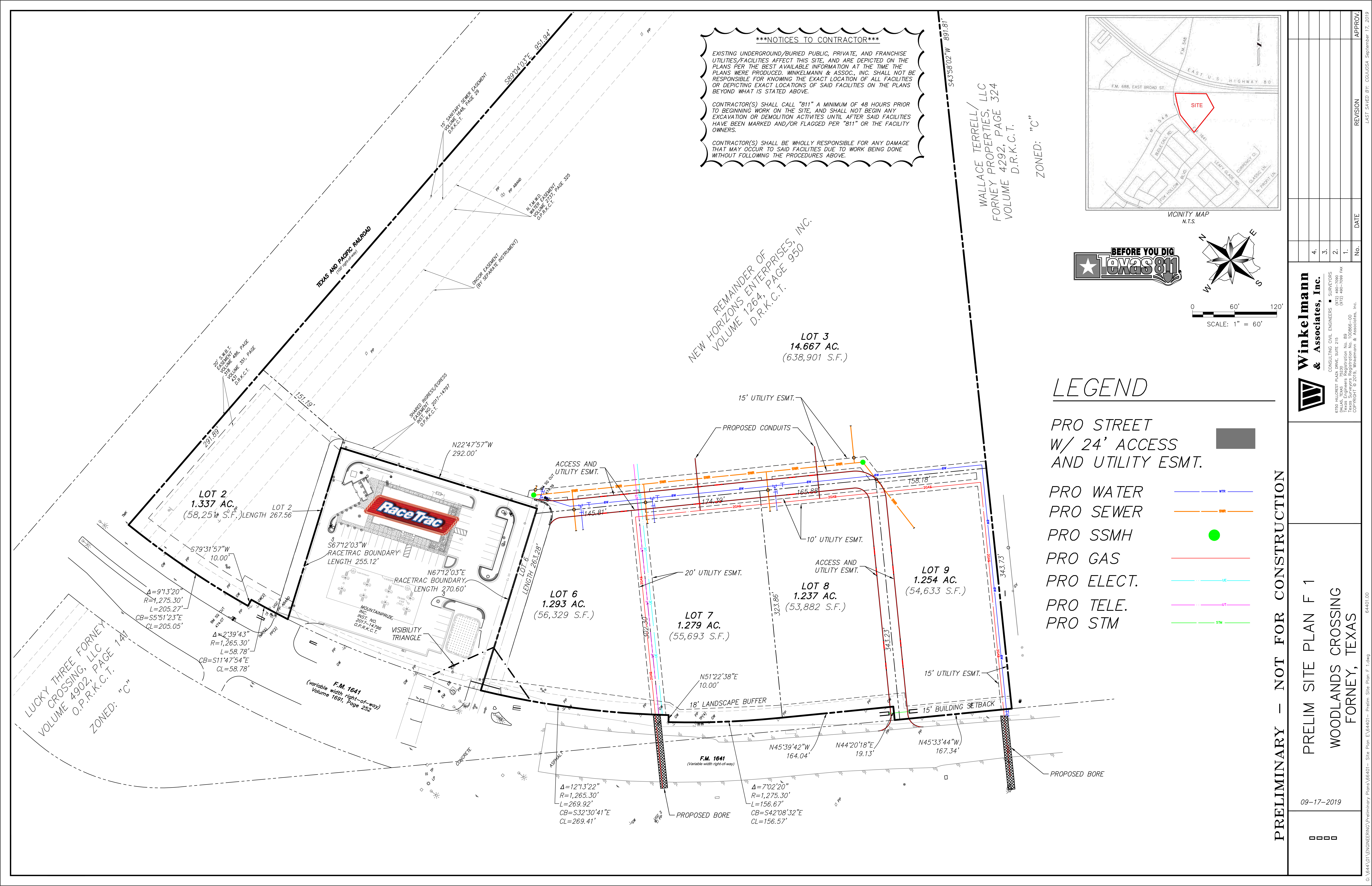 SEQ US 80 & FM 548: site plan