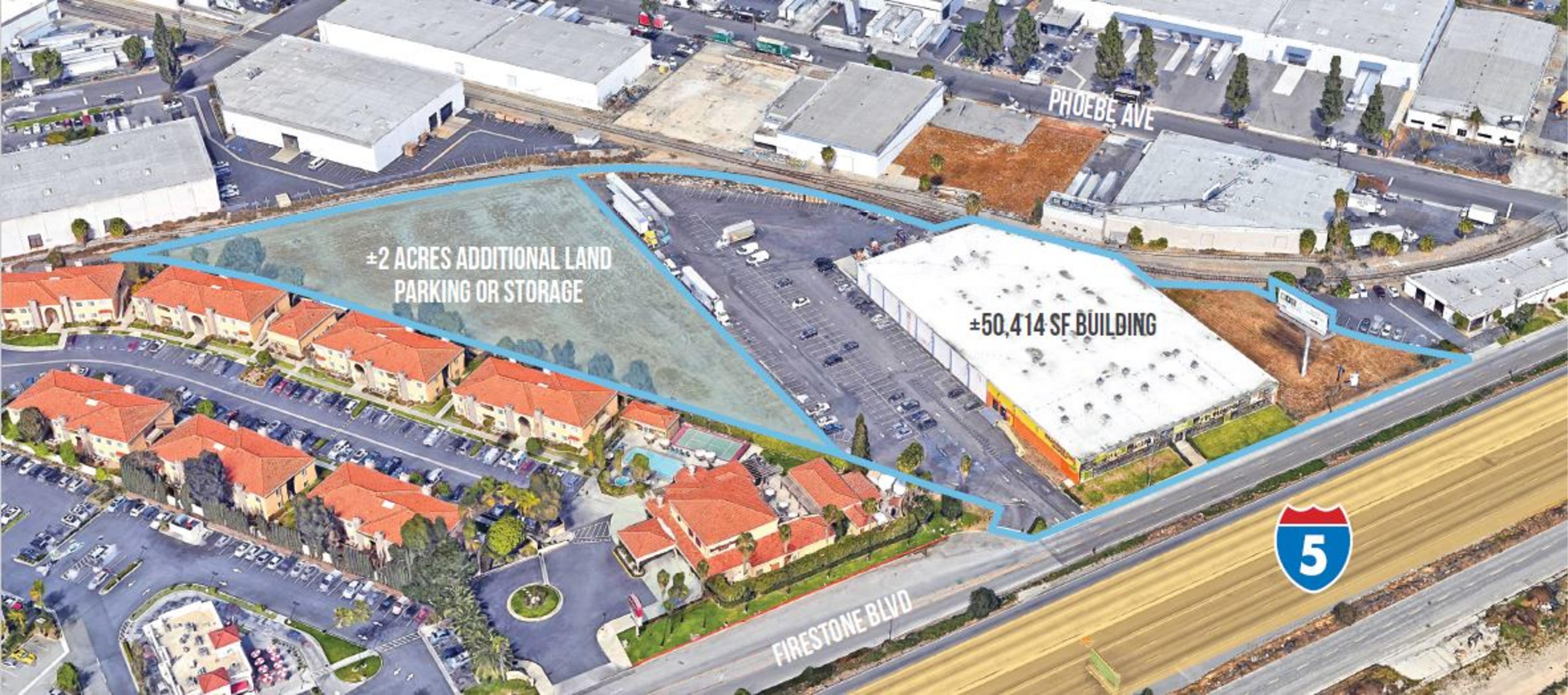 14447 Firestone Blvd: site plan