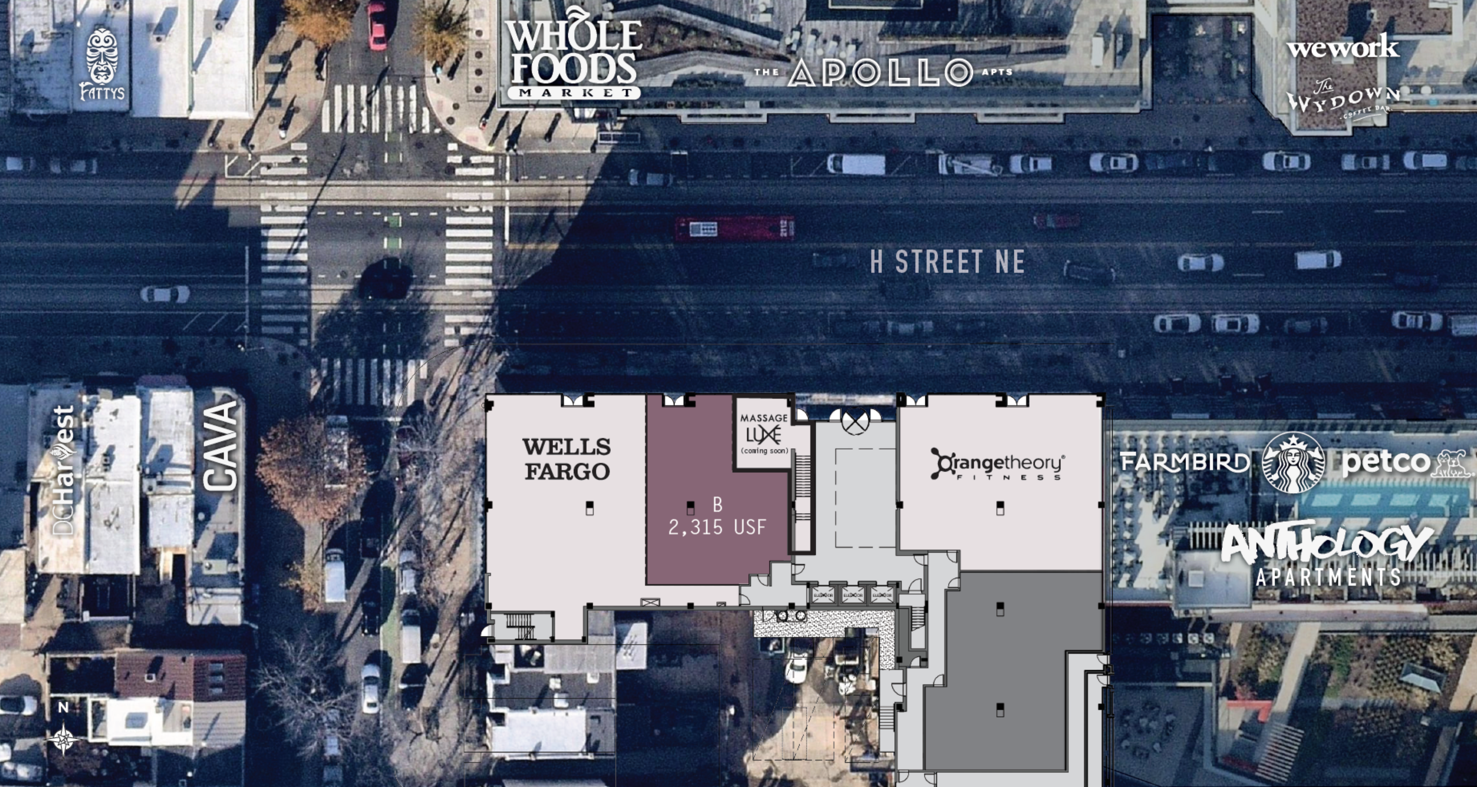 609 H Street Northeast: site plan