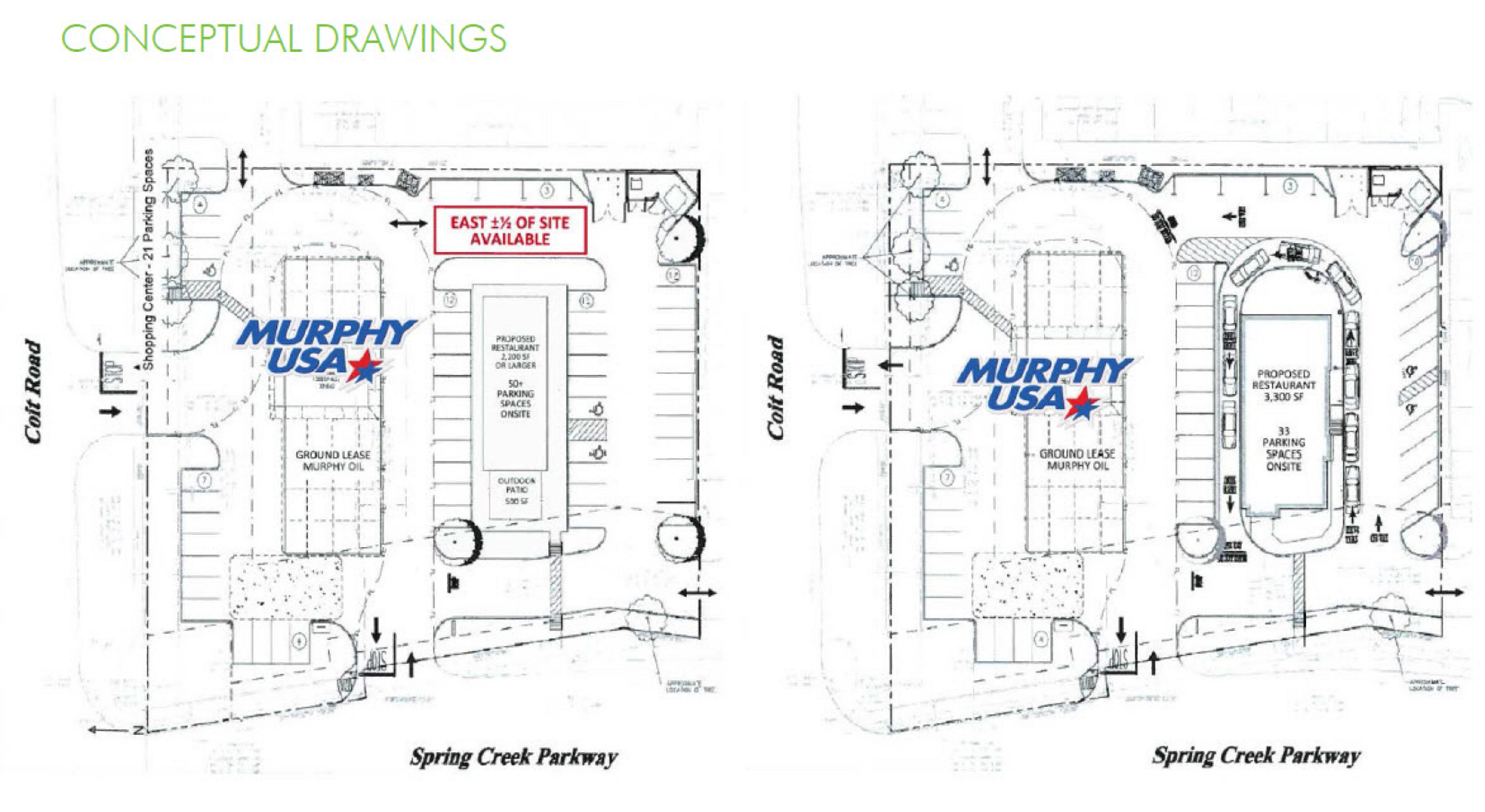 W Spring Creek Pkwy & Coit Rd Pad Site Rd: site plan