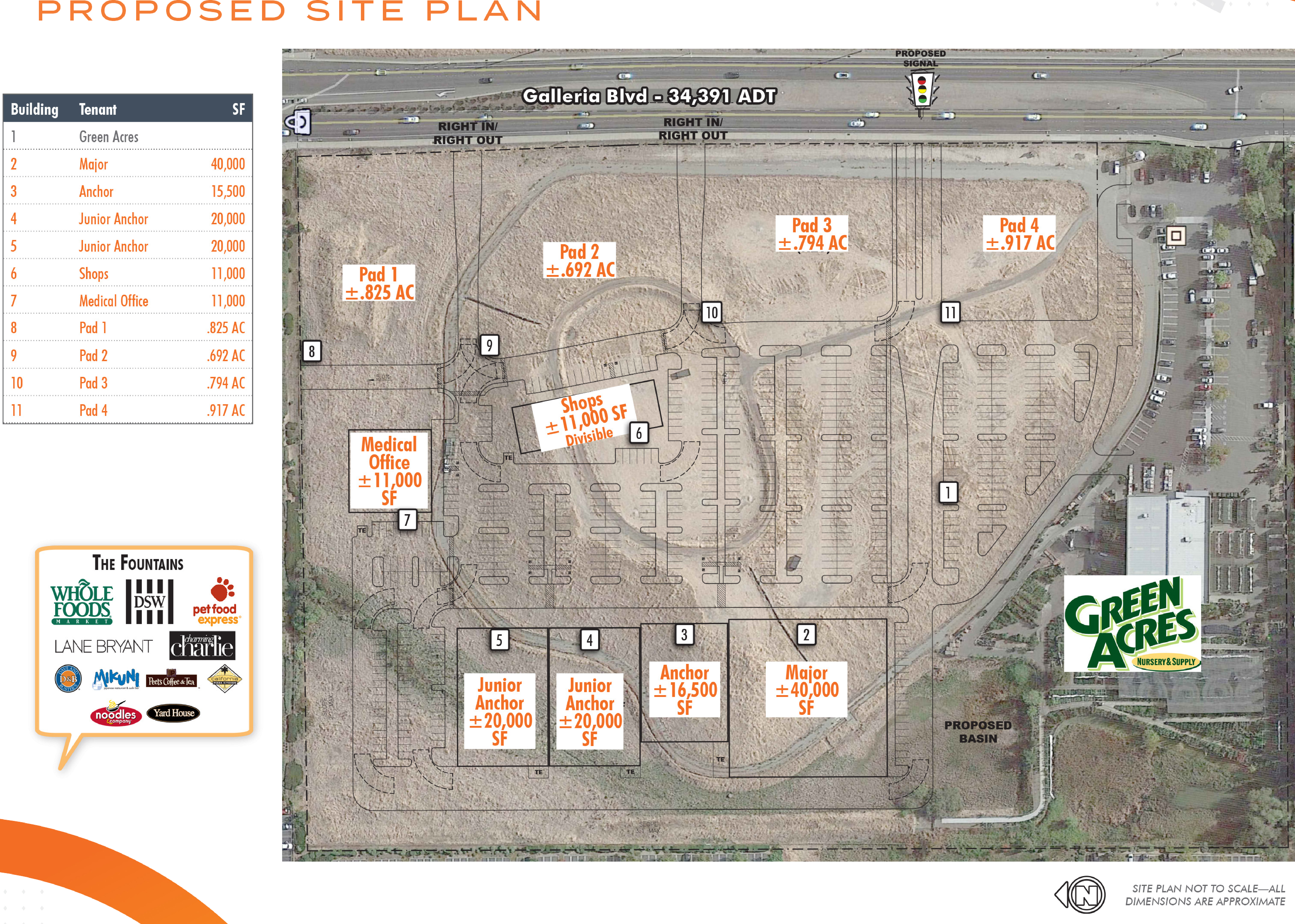 901-903 Galleria Blvd: site plan