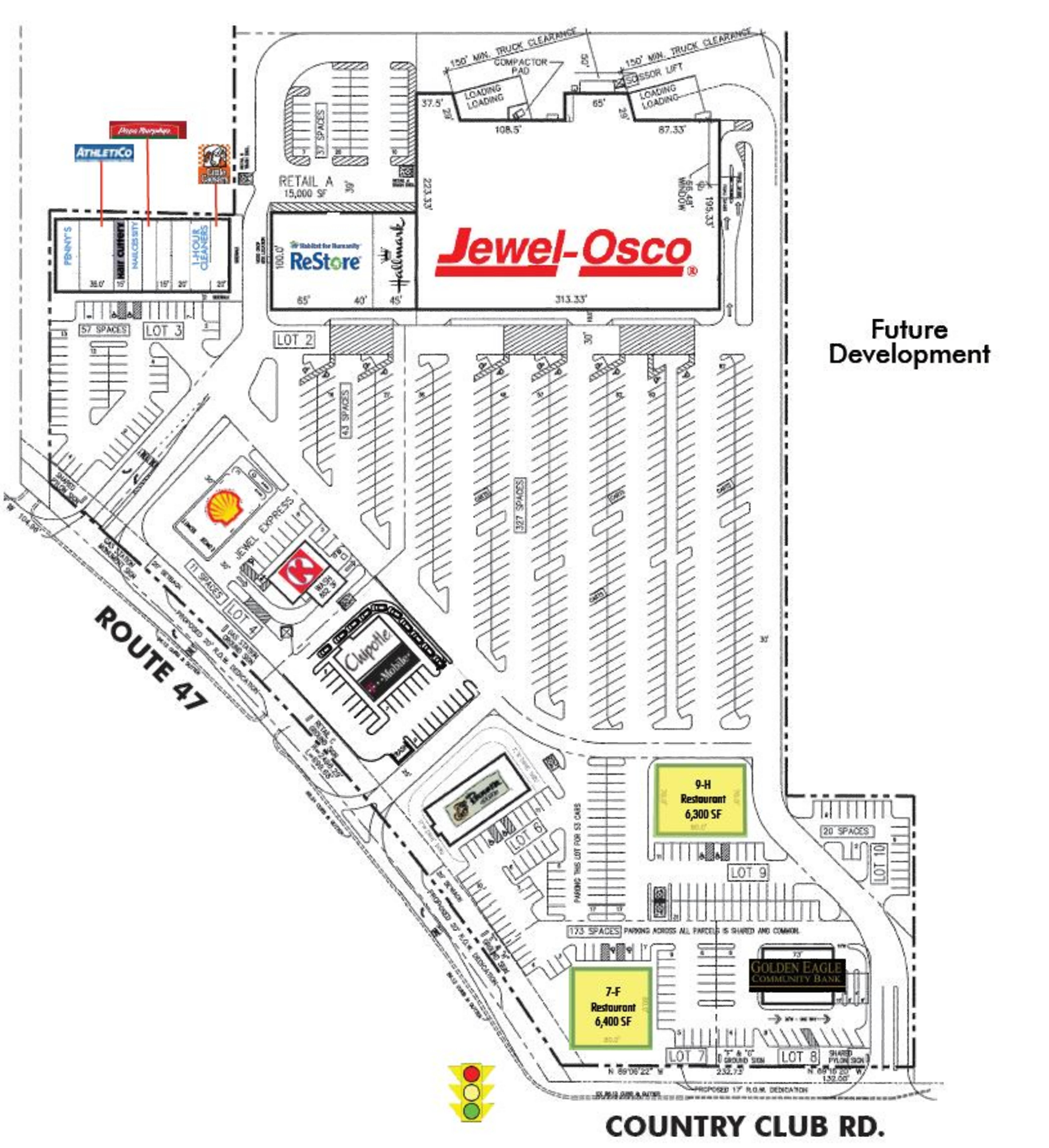 Woodstock Retail Center: site plan