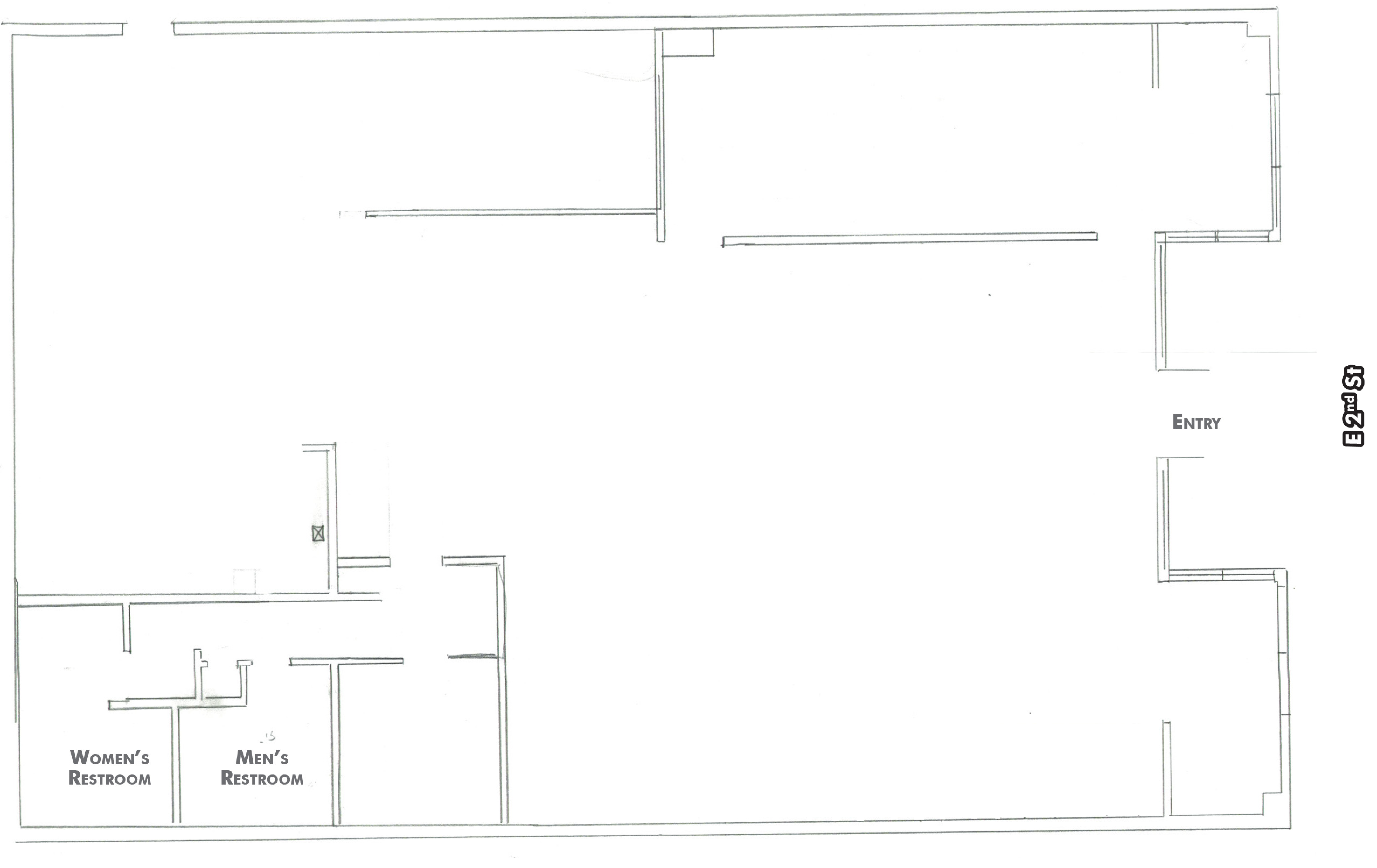 Downtown Chico Restaurant Space: site plan