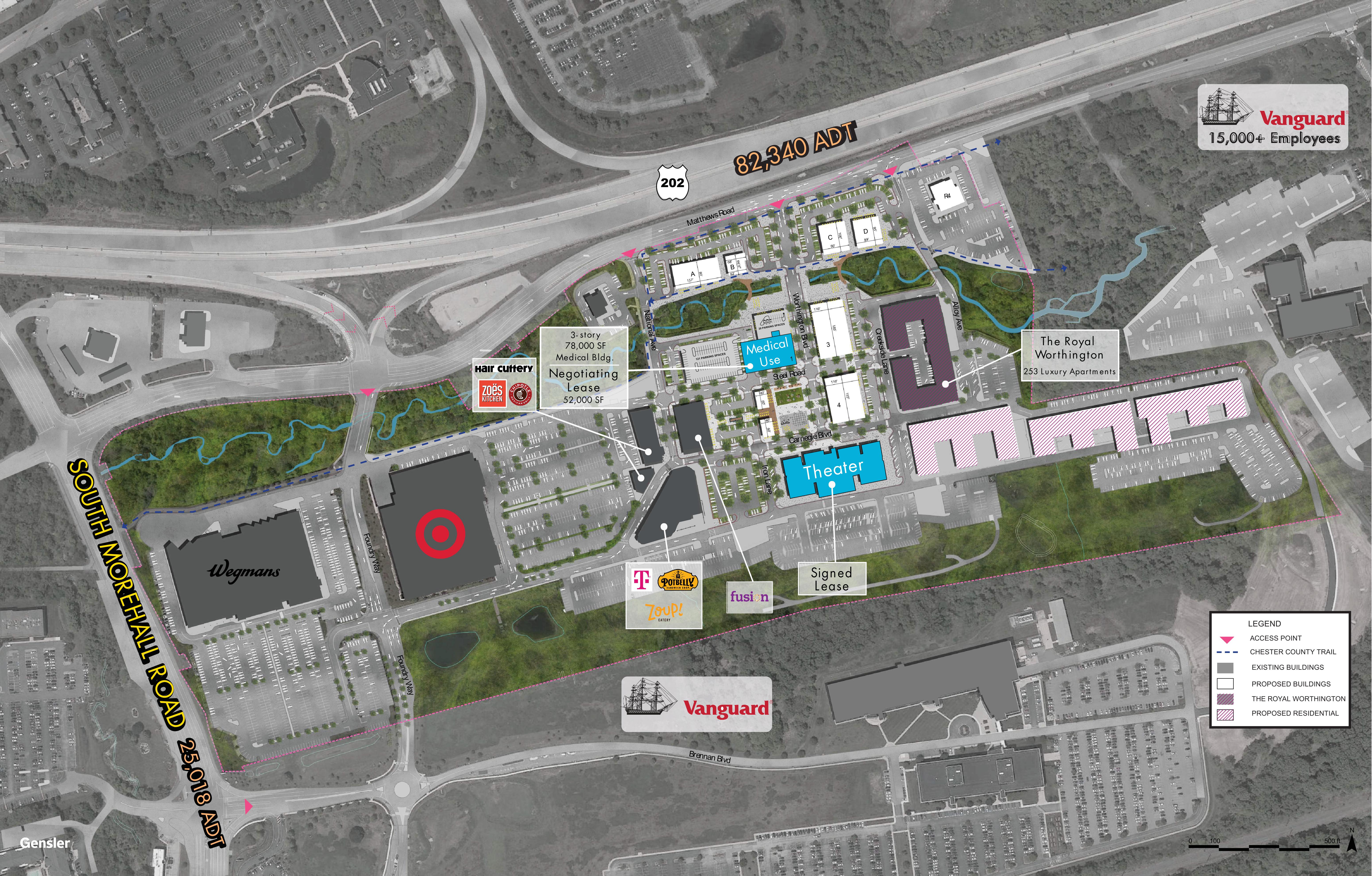 Uptown Worthington: site plan