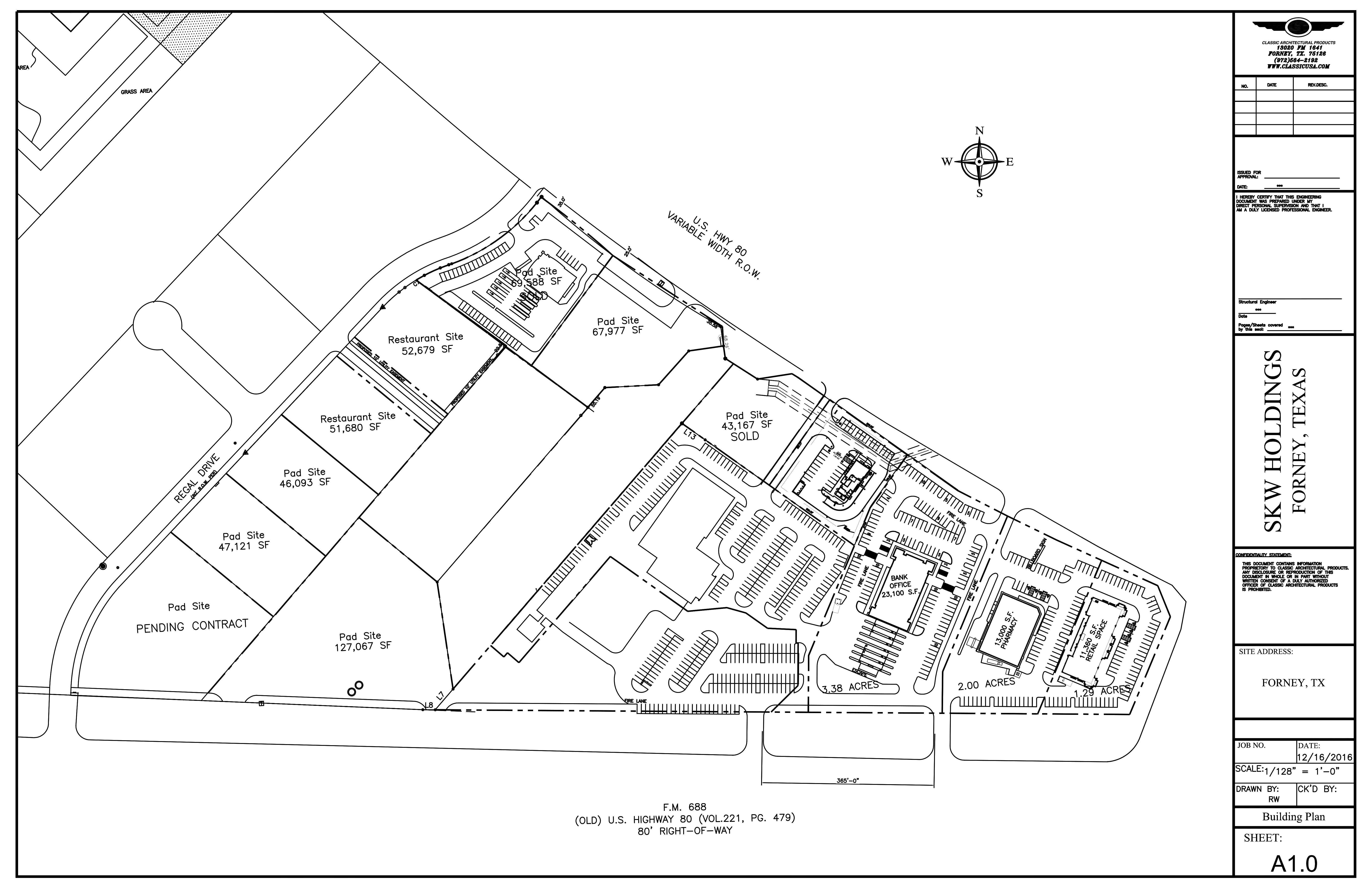US Hwy 80 West of FM 548 at Regal - 11.9 ACRES: site plan