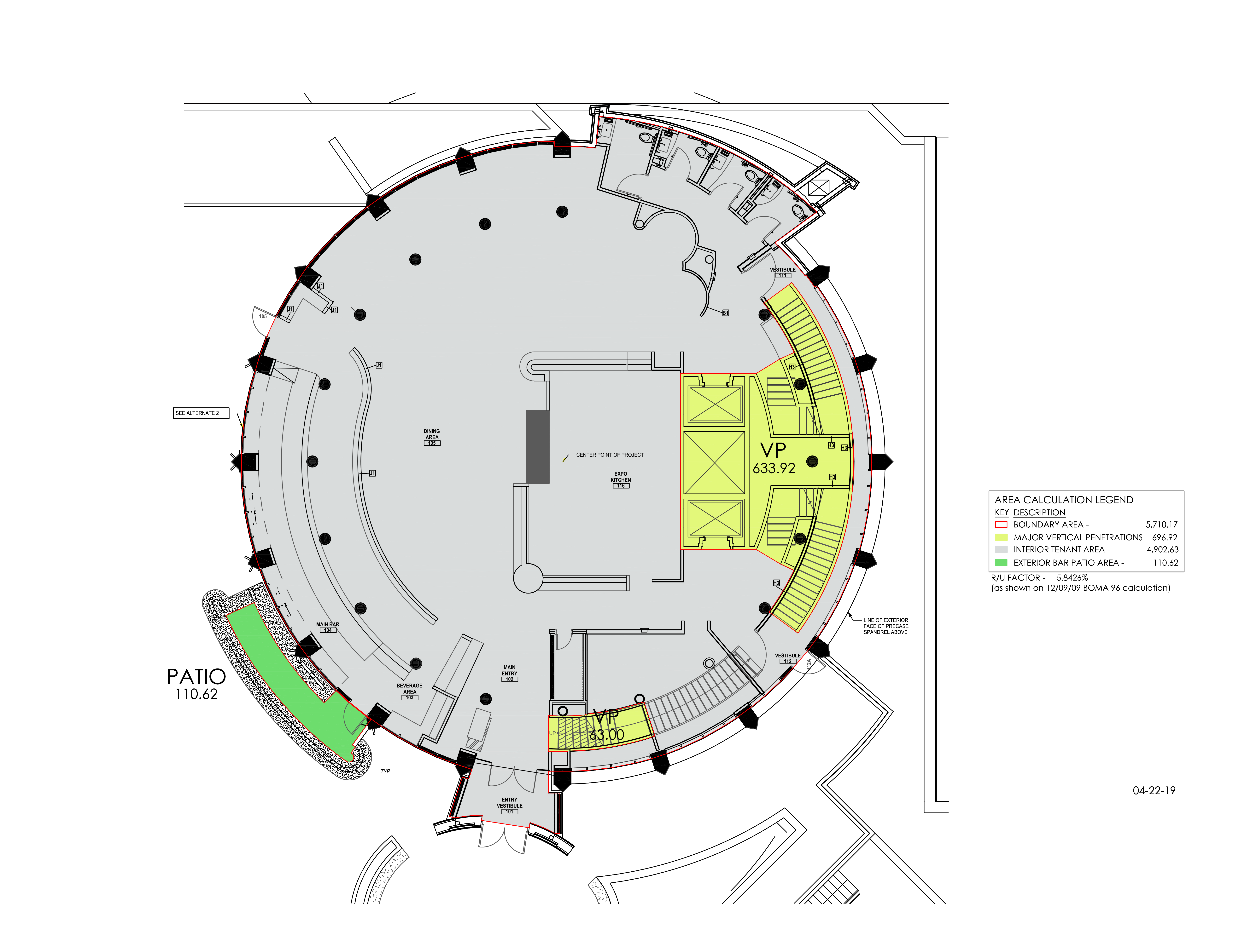The Rotunda at Chase Tower: site plan