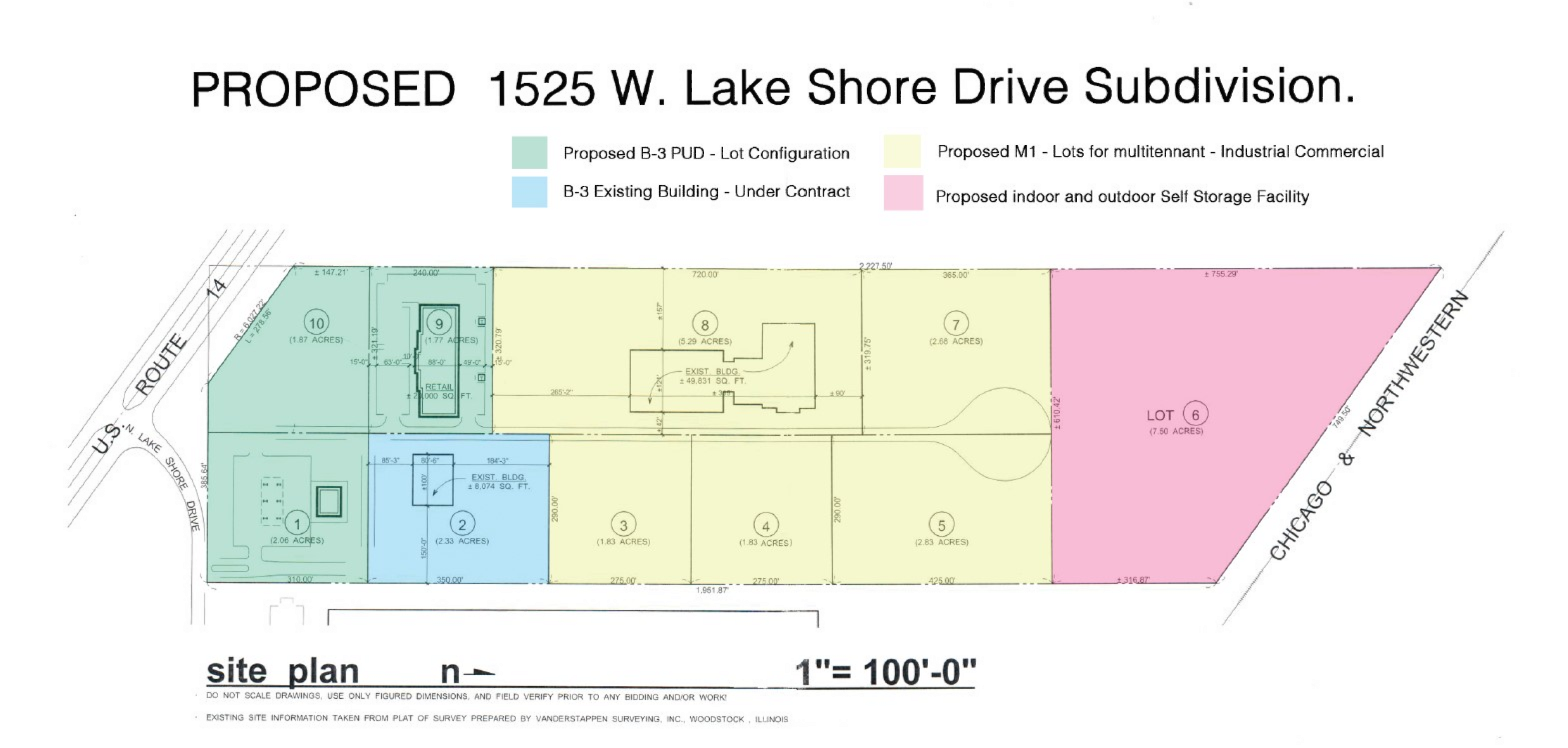 1525 W. Lake Shore Dr., Woodstock, IL: site plan