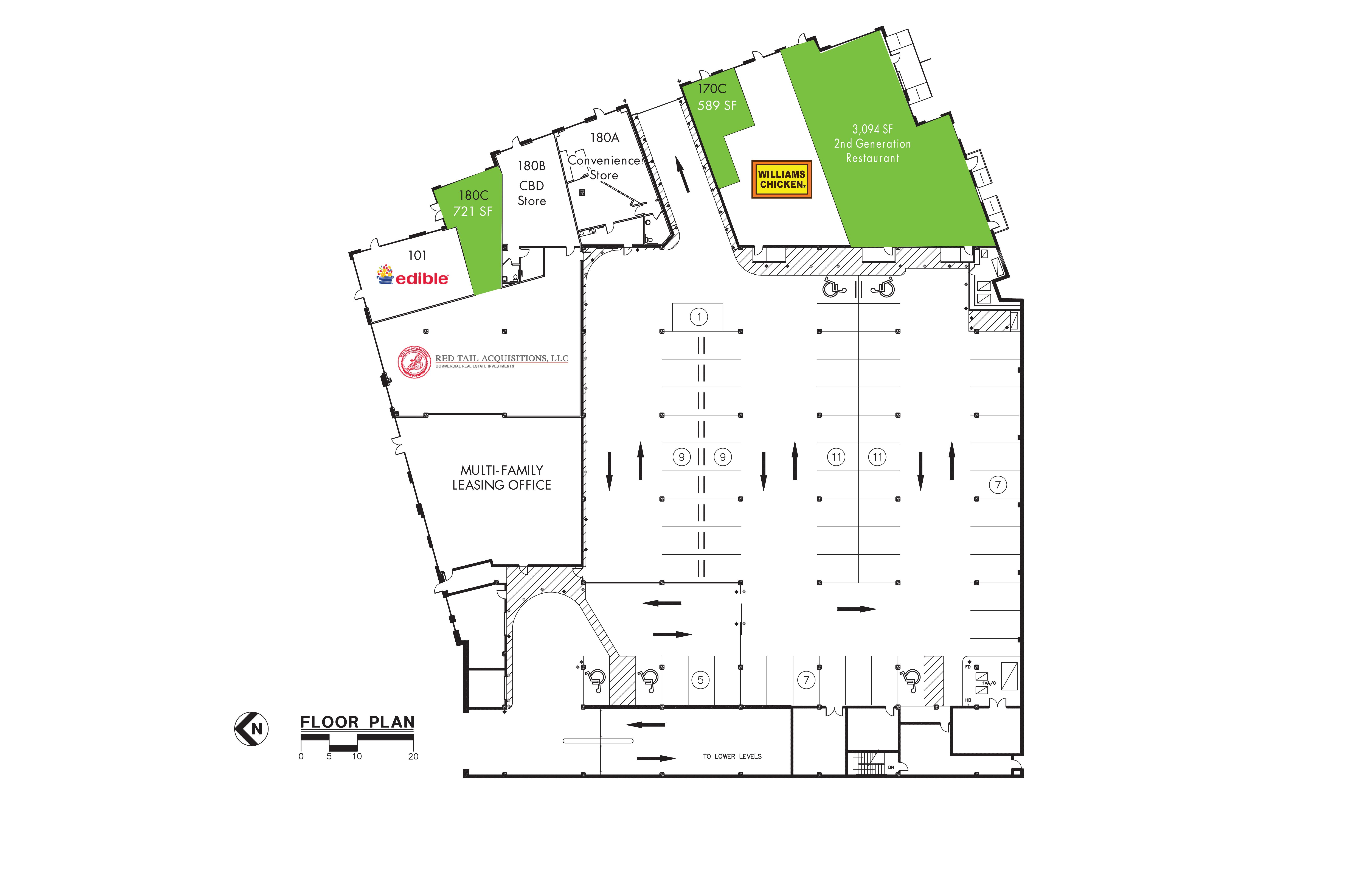 Arrive West End: site plan