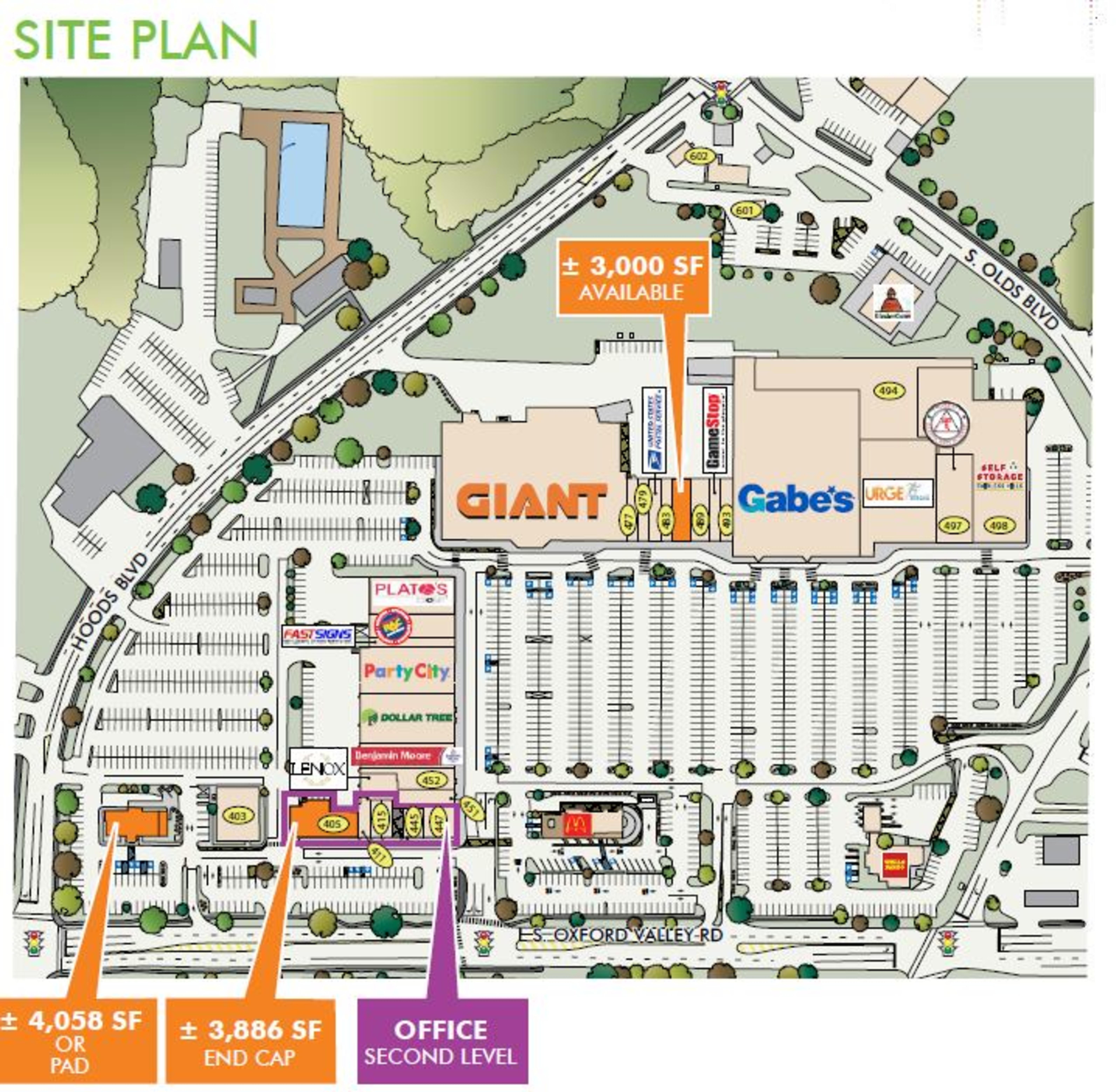 Fairless Hills Towne Center: site plan