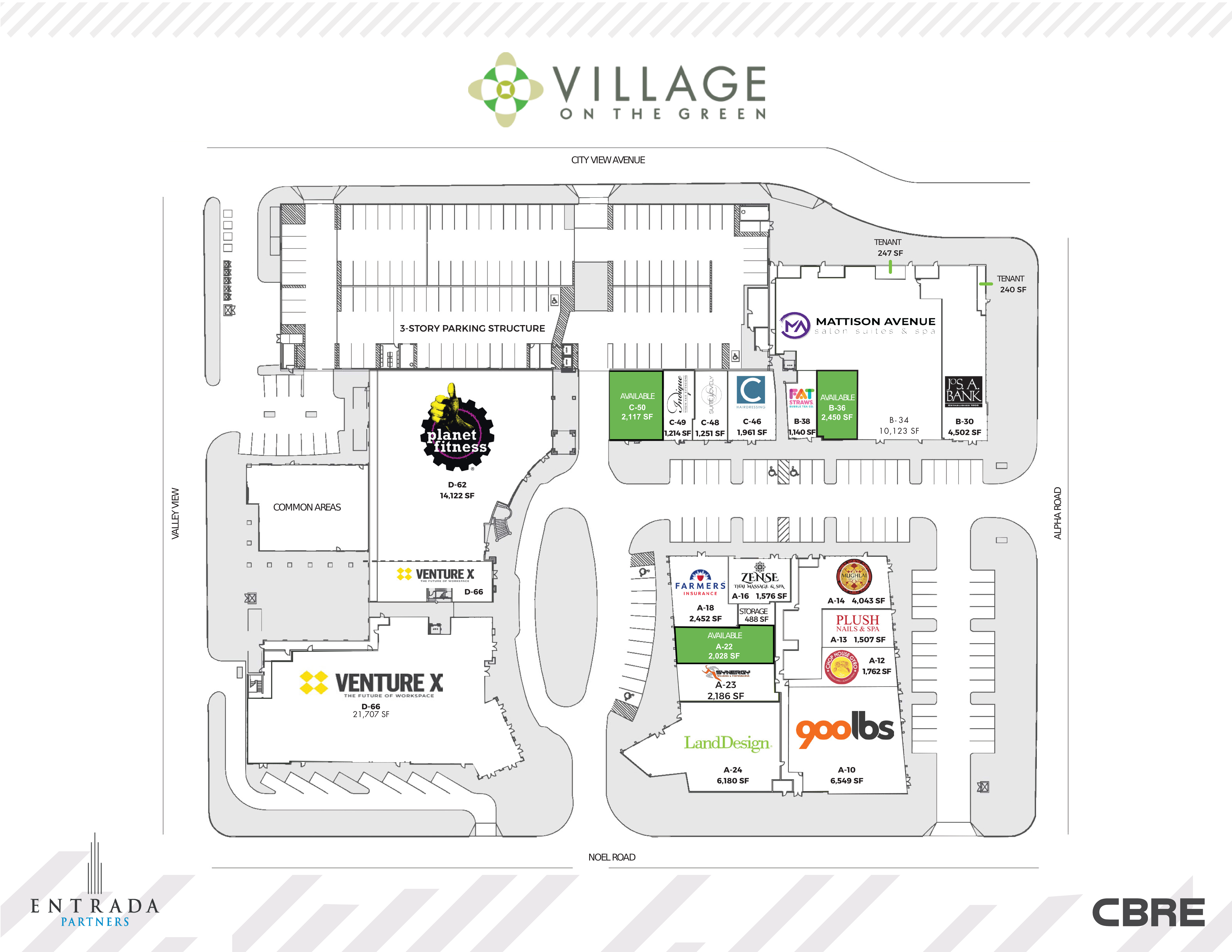 Village on the Green: site plan