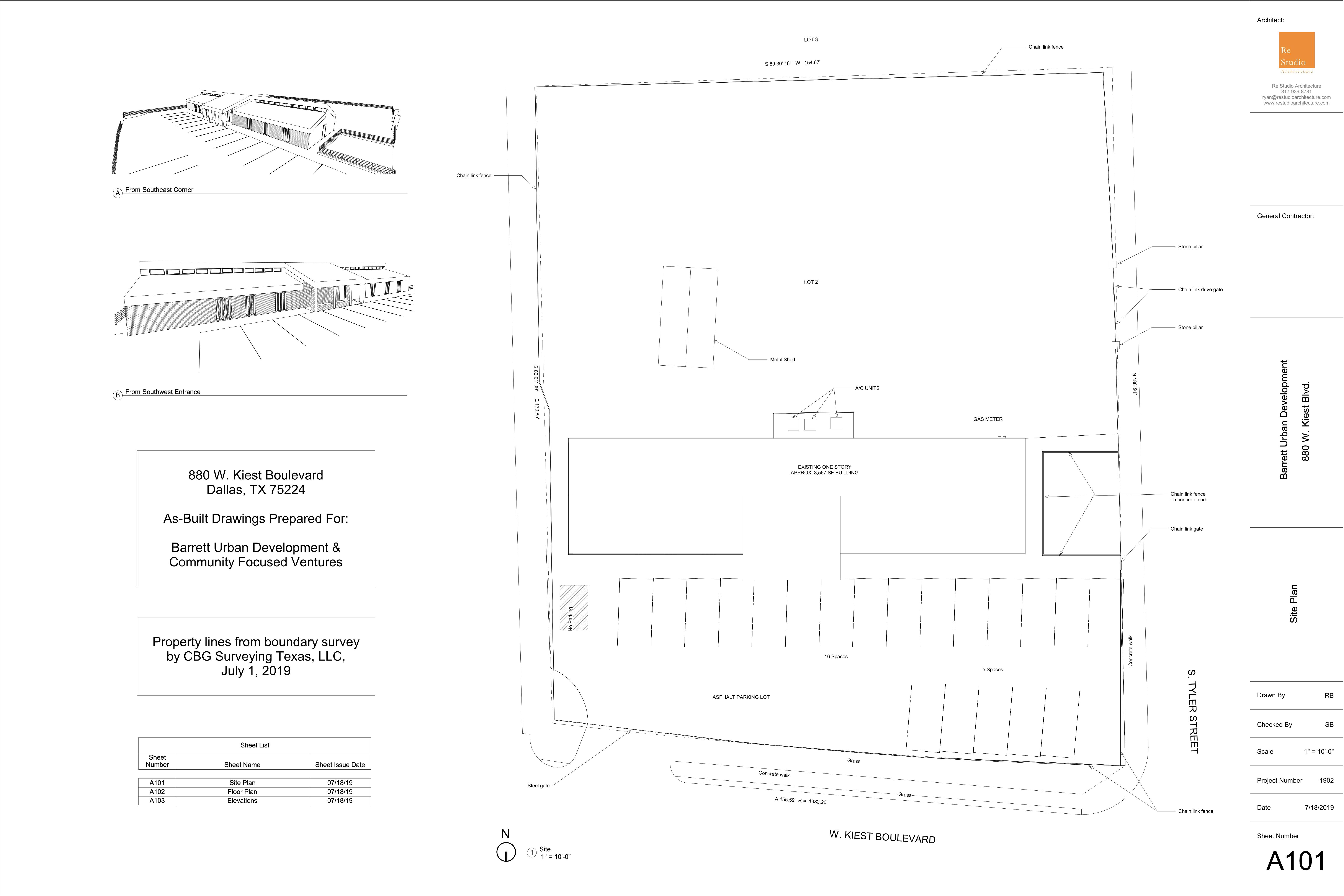 880 West Kiest: site plan