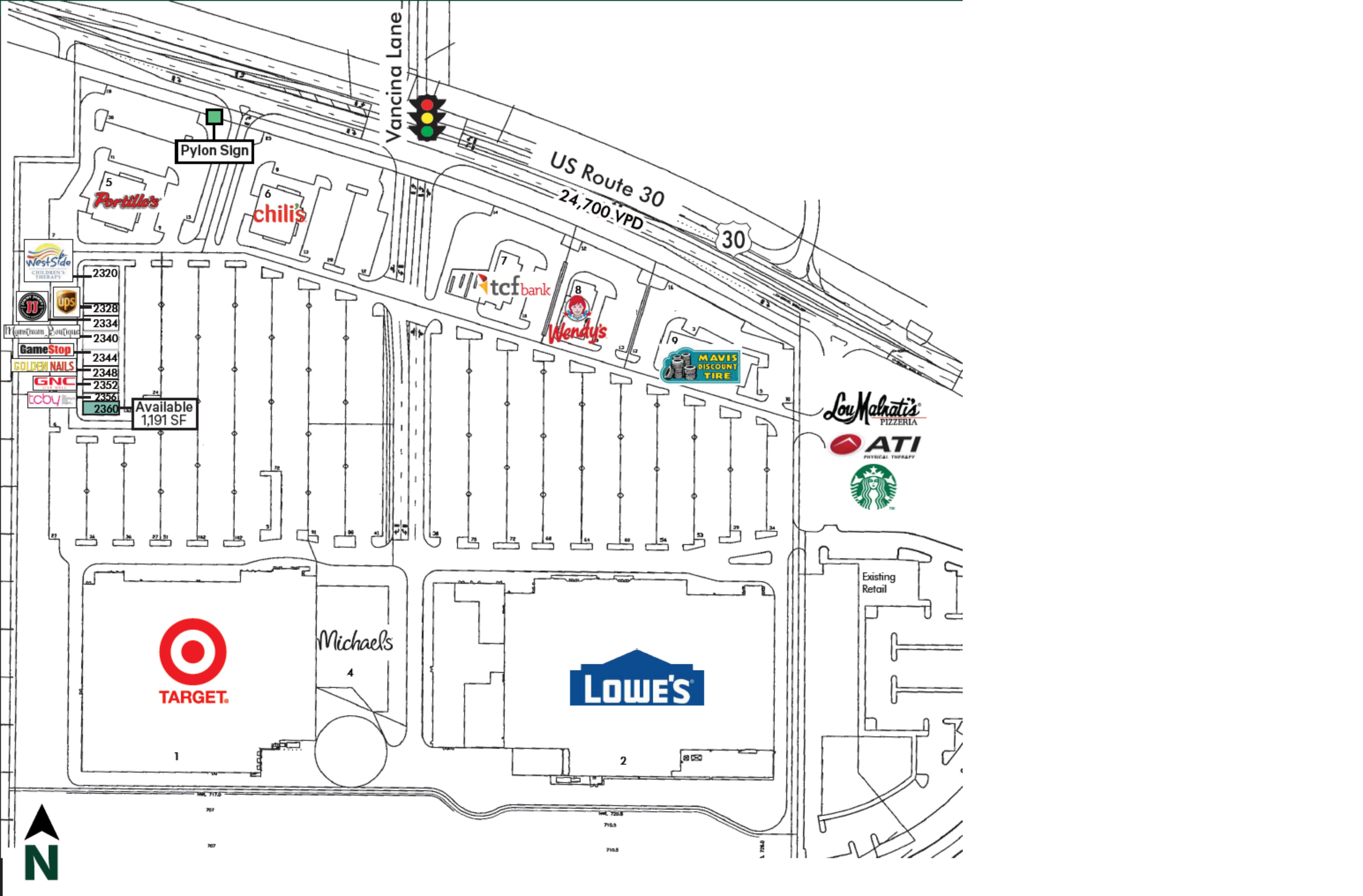 New Lenox Retail Center: site plan