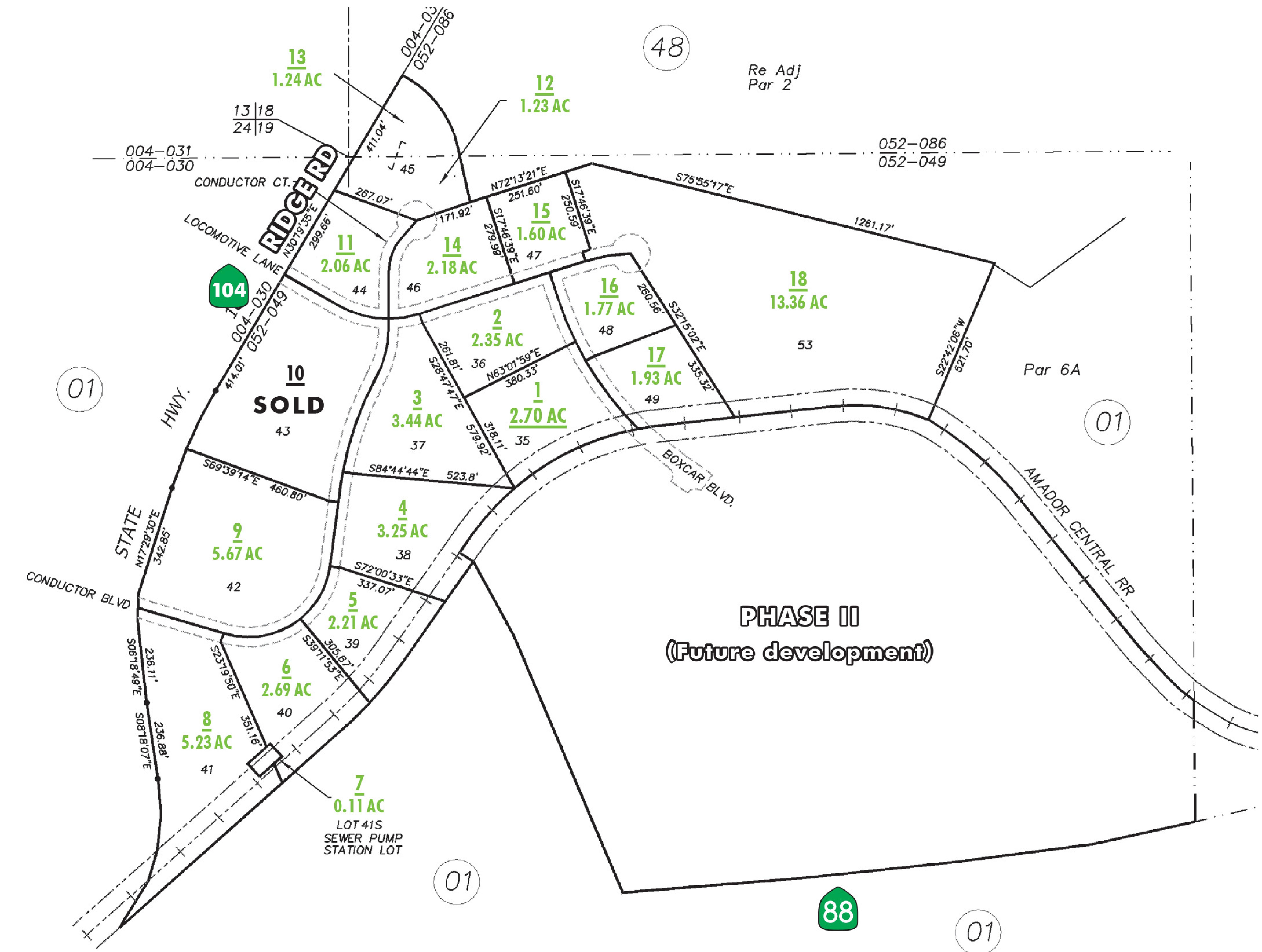 Amador Central Business Park: site plan