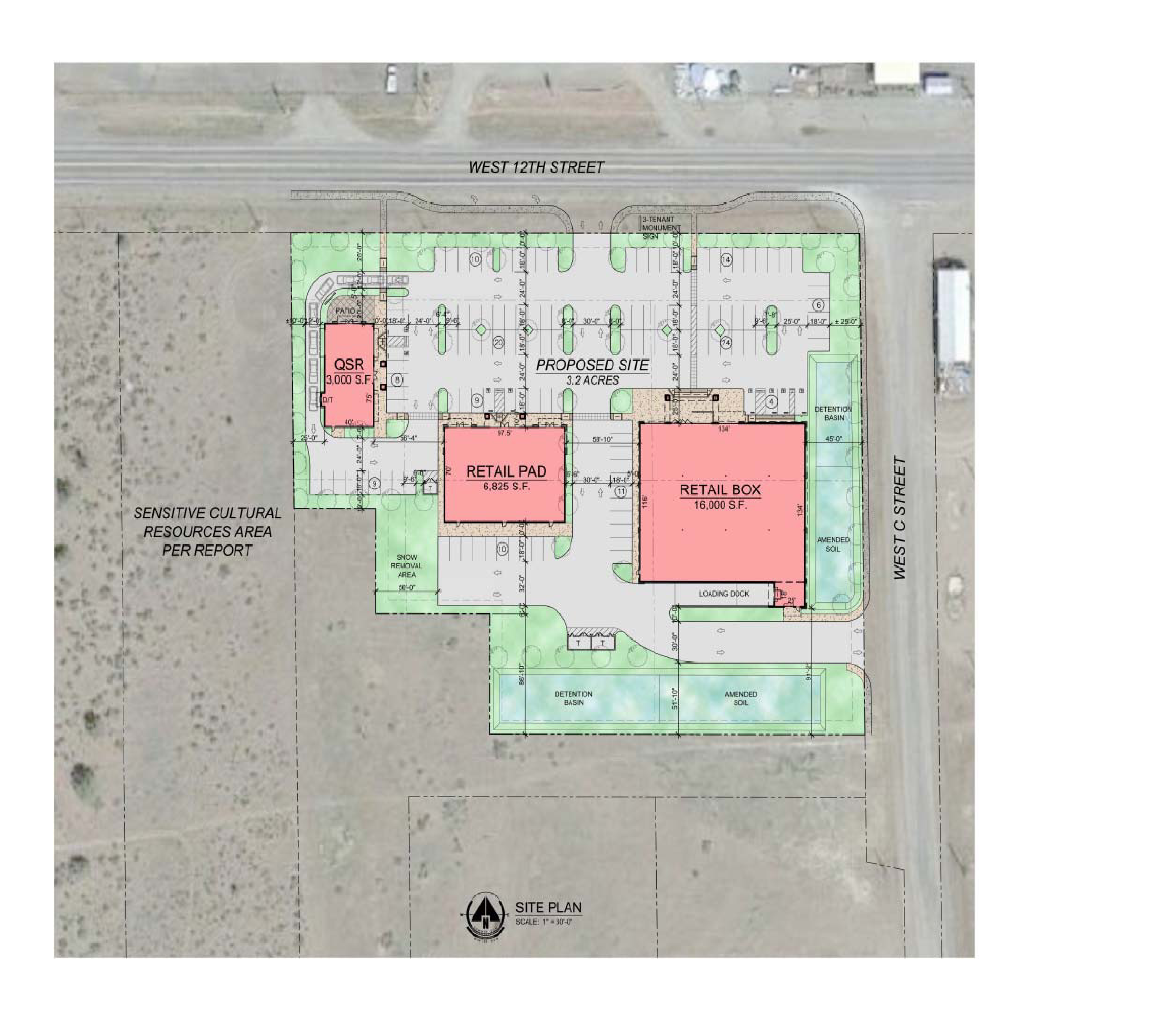 Retail Space in New Grocery Anchored Development: site plan