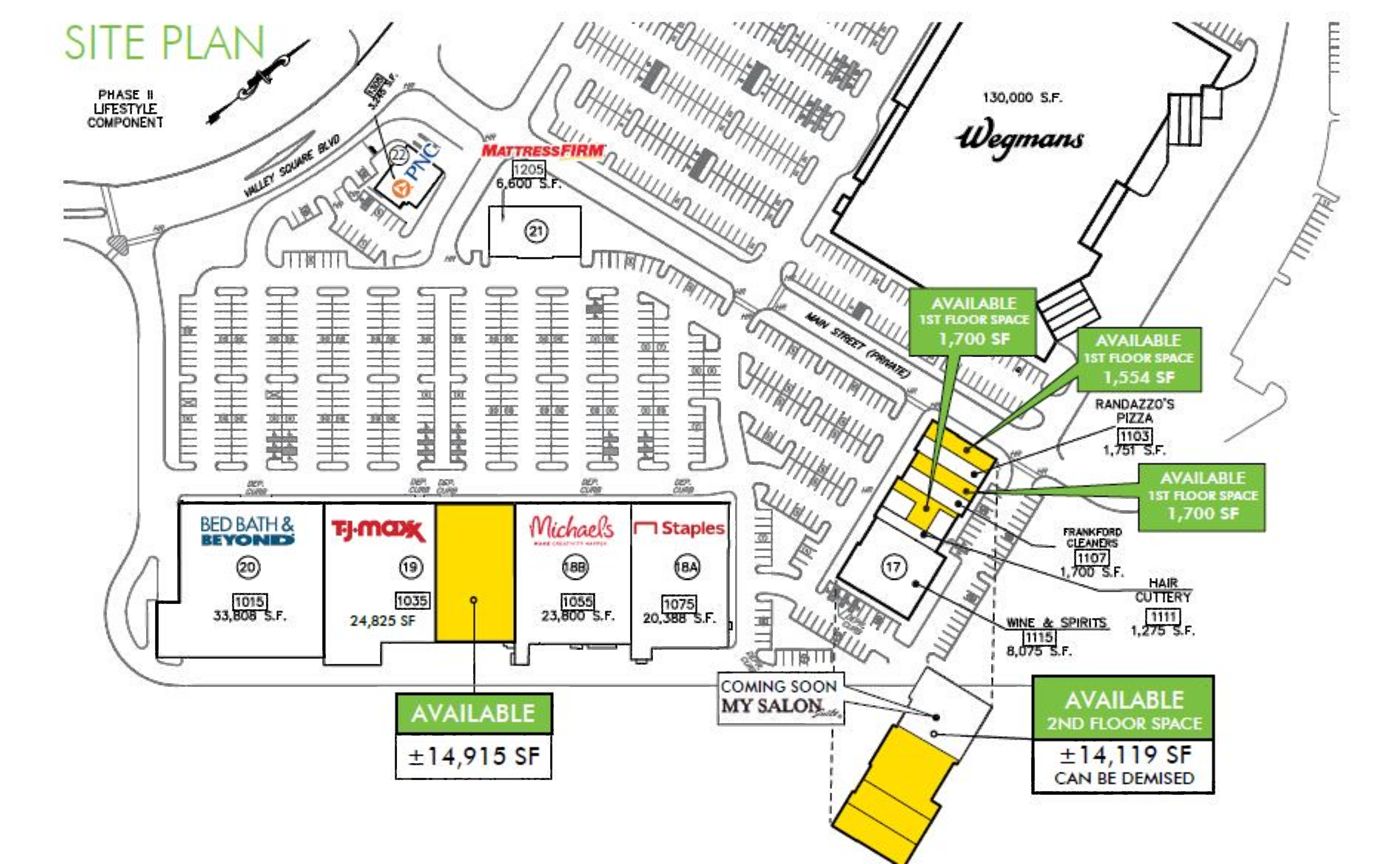 Valley Square Shopping Center: site plan