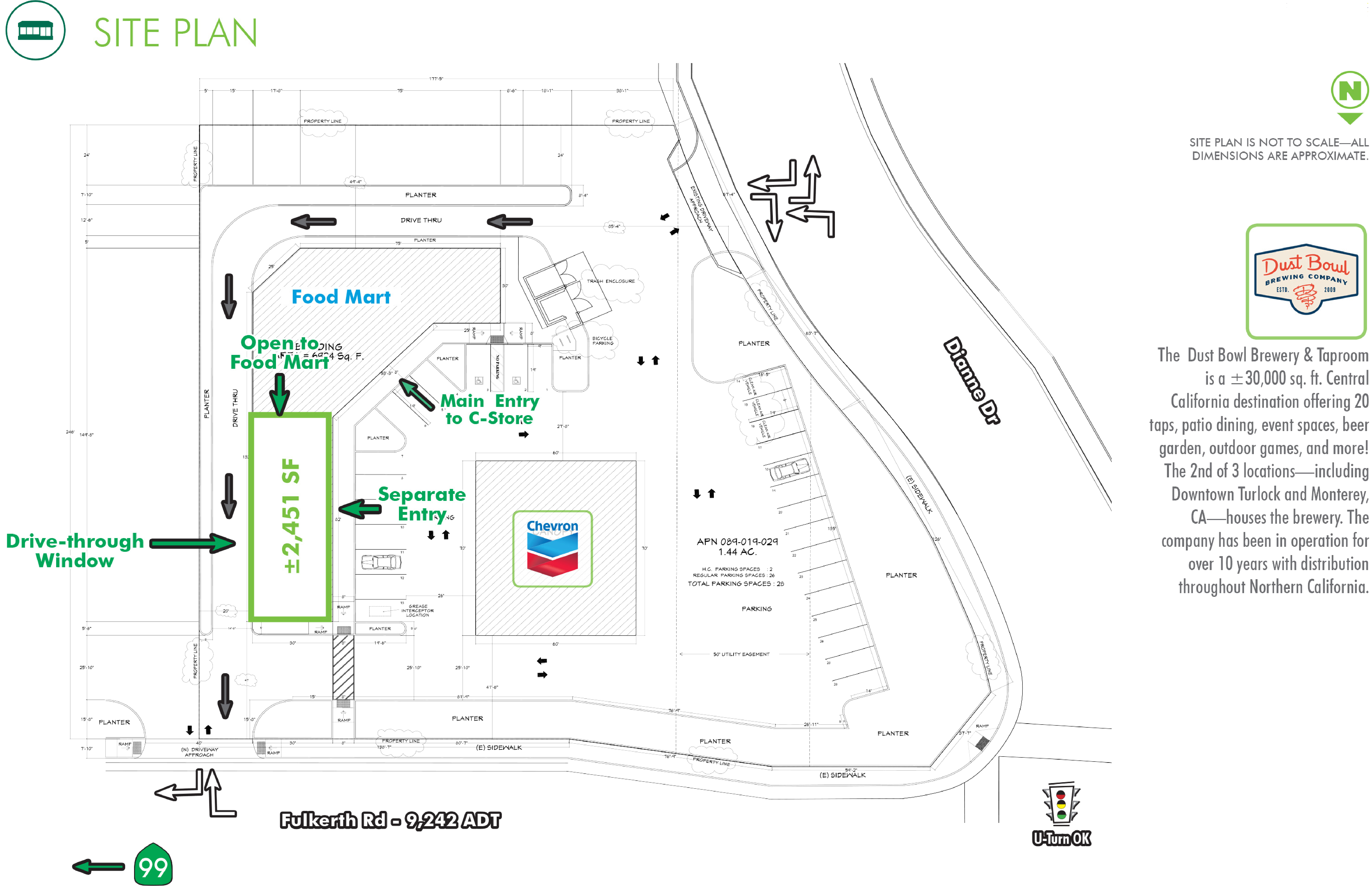 Fast Food-Fast Casual Space: site plan