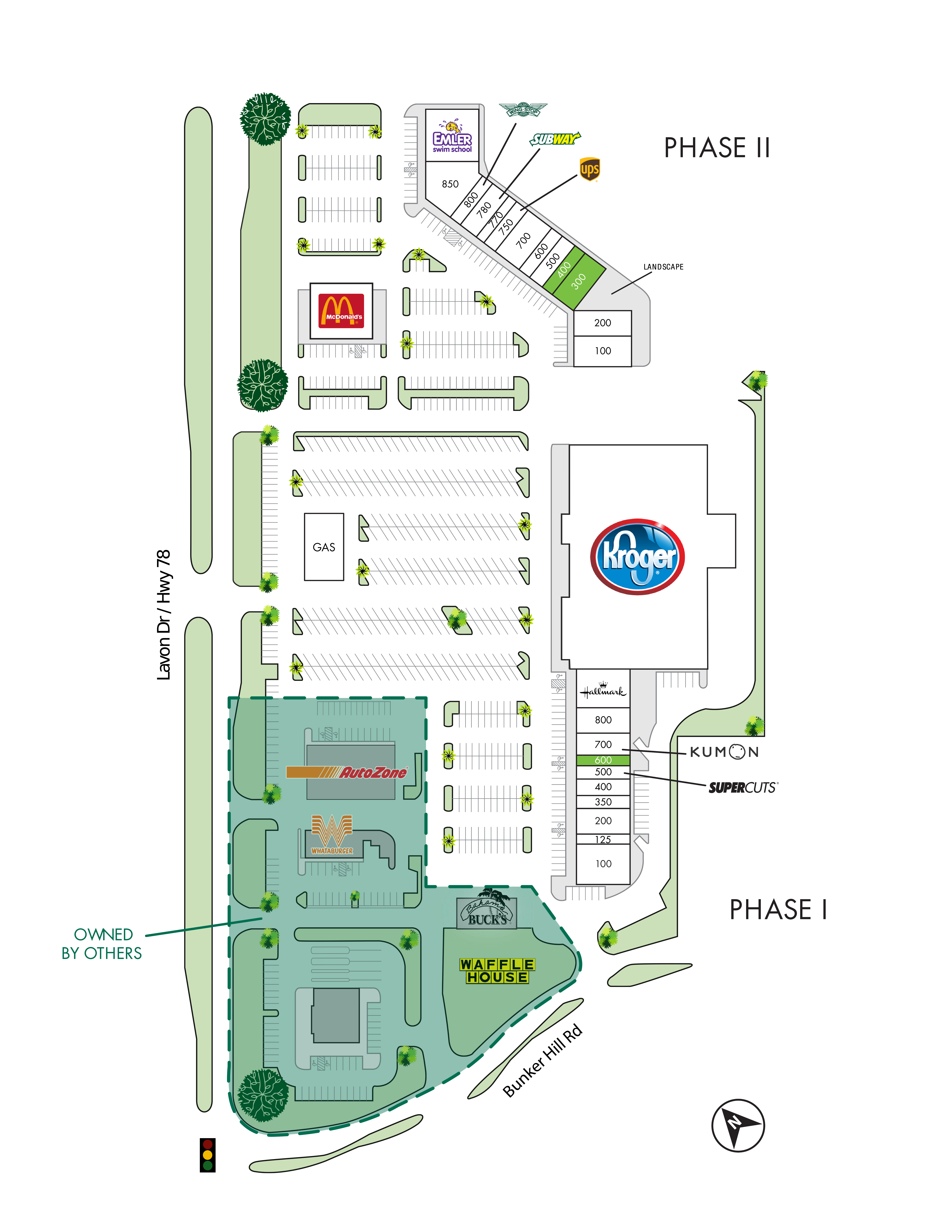 Oak Grove Plaza: site plan