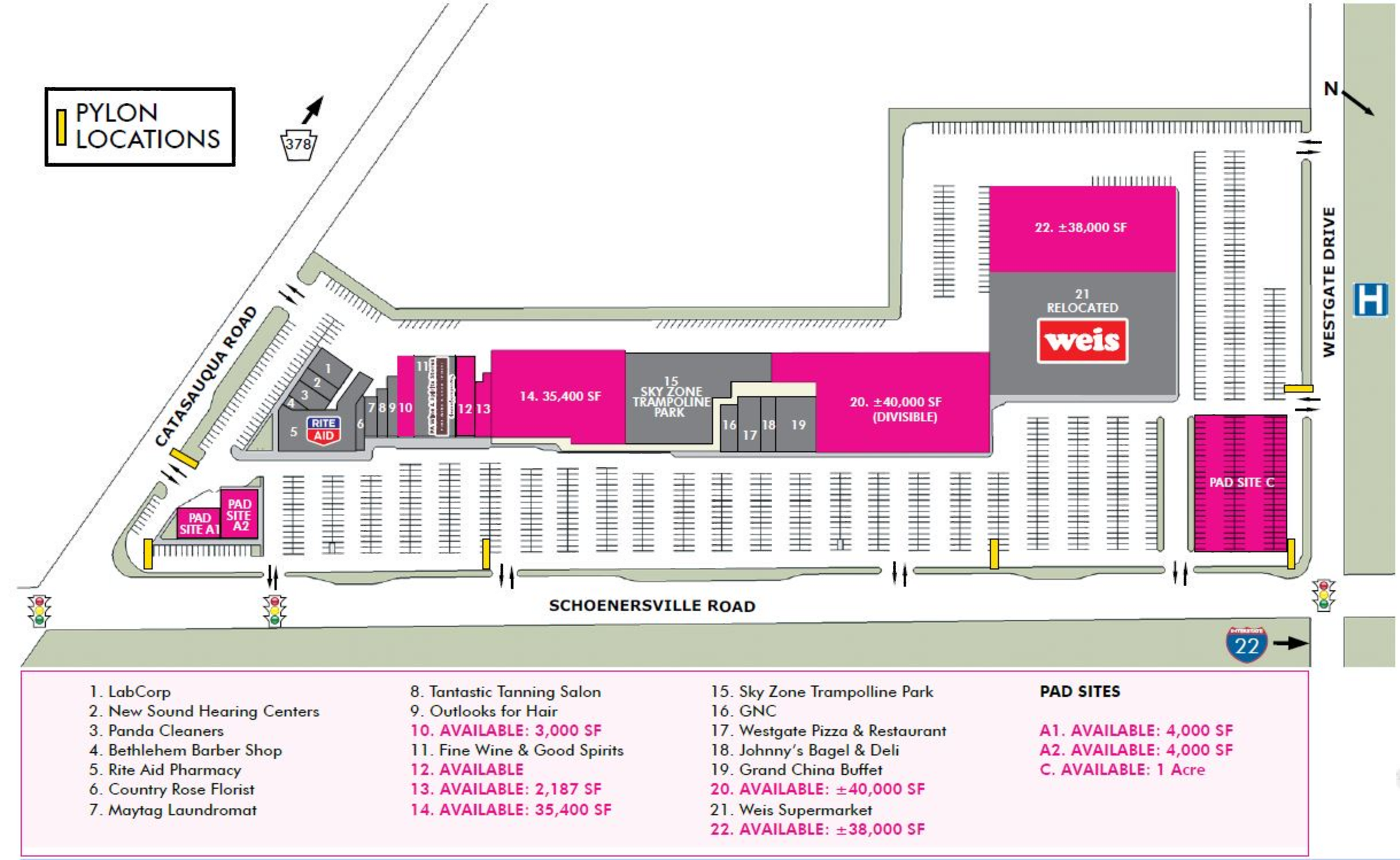Westgate Mall: site plan