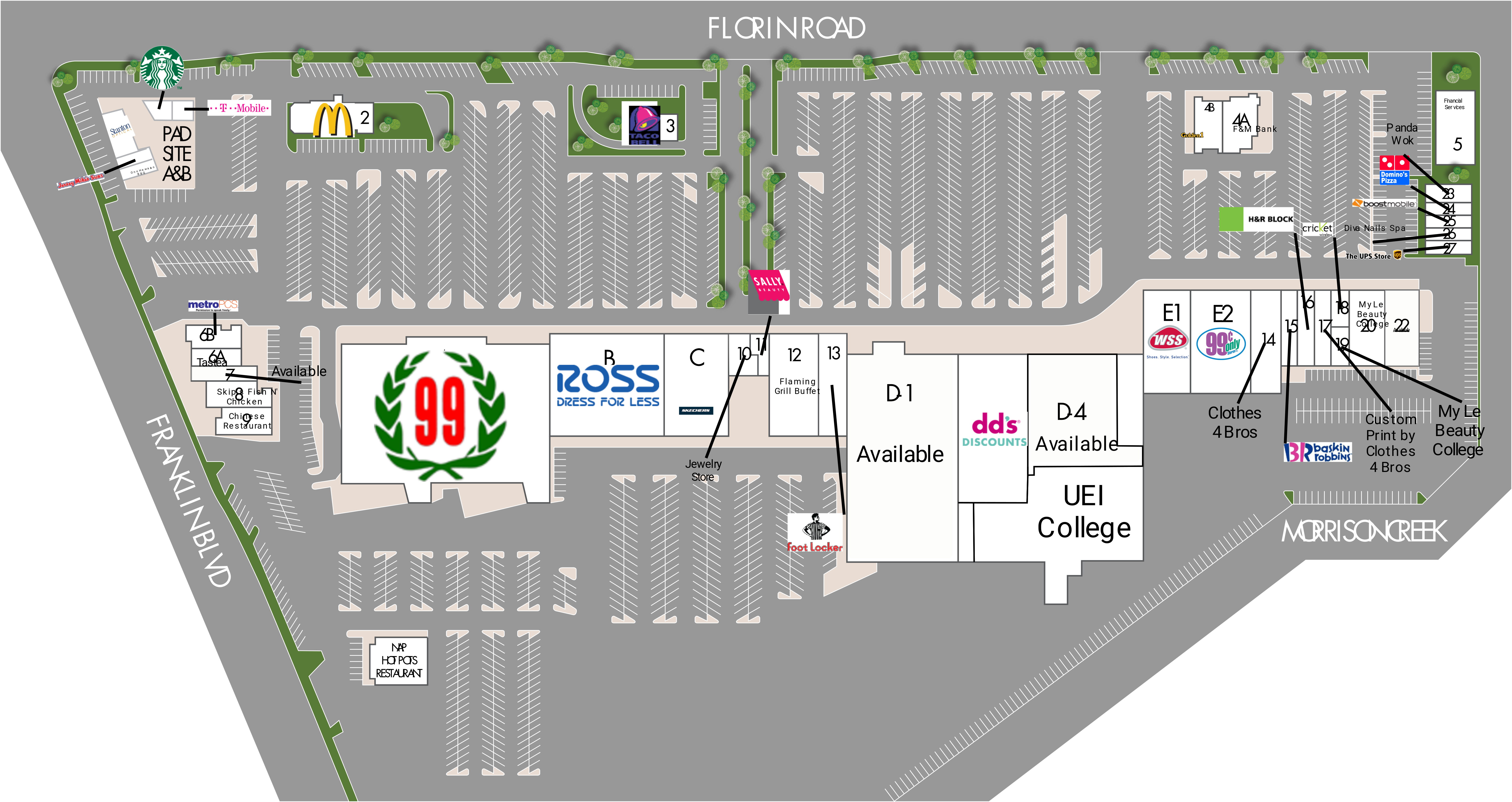 Southgate Plaza: site plan