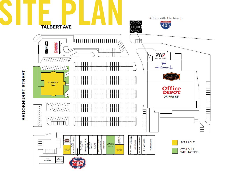 Fountain Valley Plaza: site plan