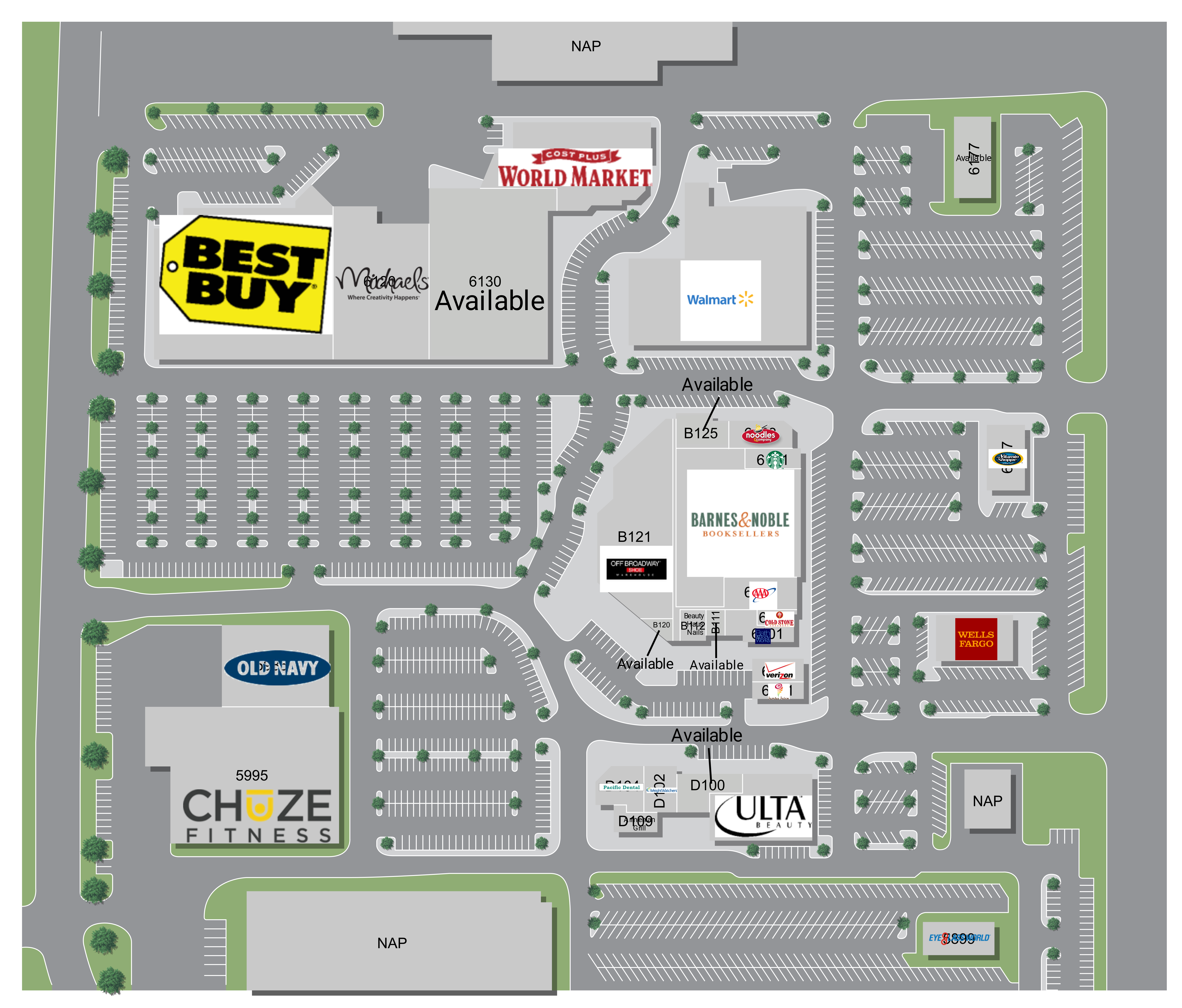 The Marketplace at Birdcage: site plan